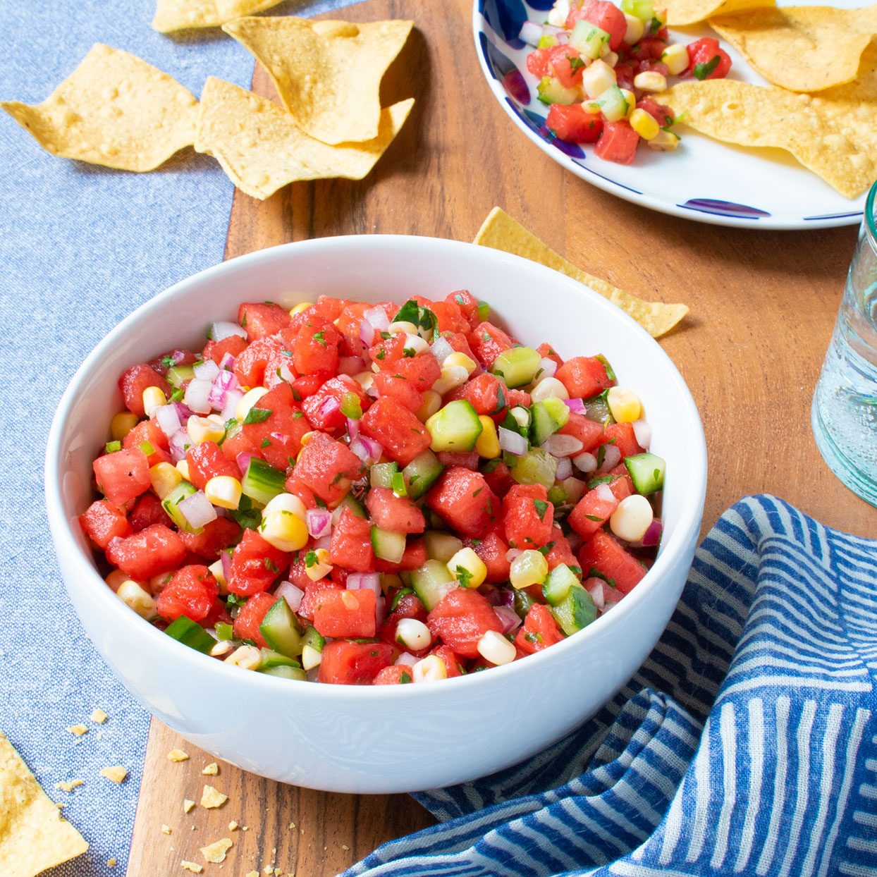 Watermelon, Cucumber & Corn Salsa