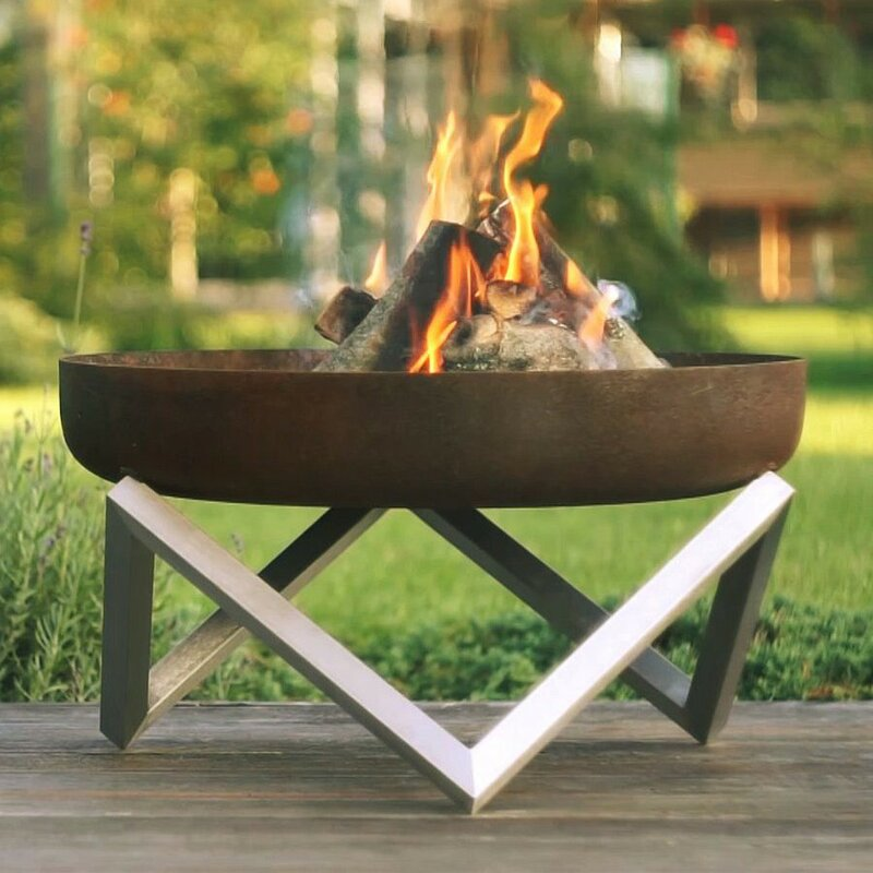Faisal+Stainless+Steel+Wood+Burning+Fire+Pit