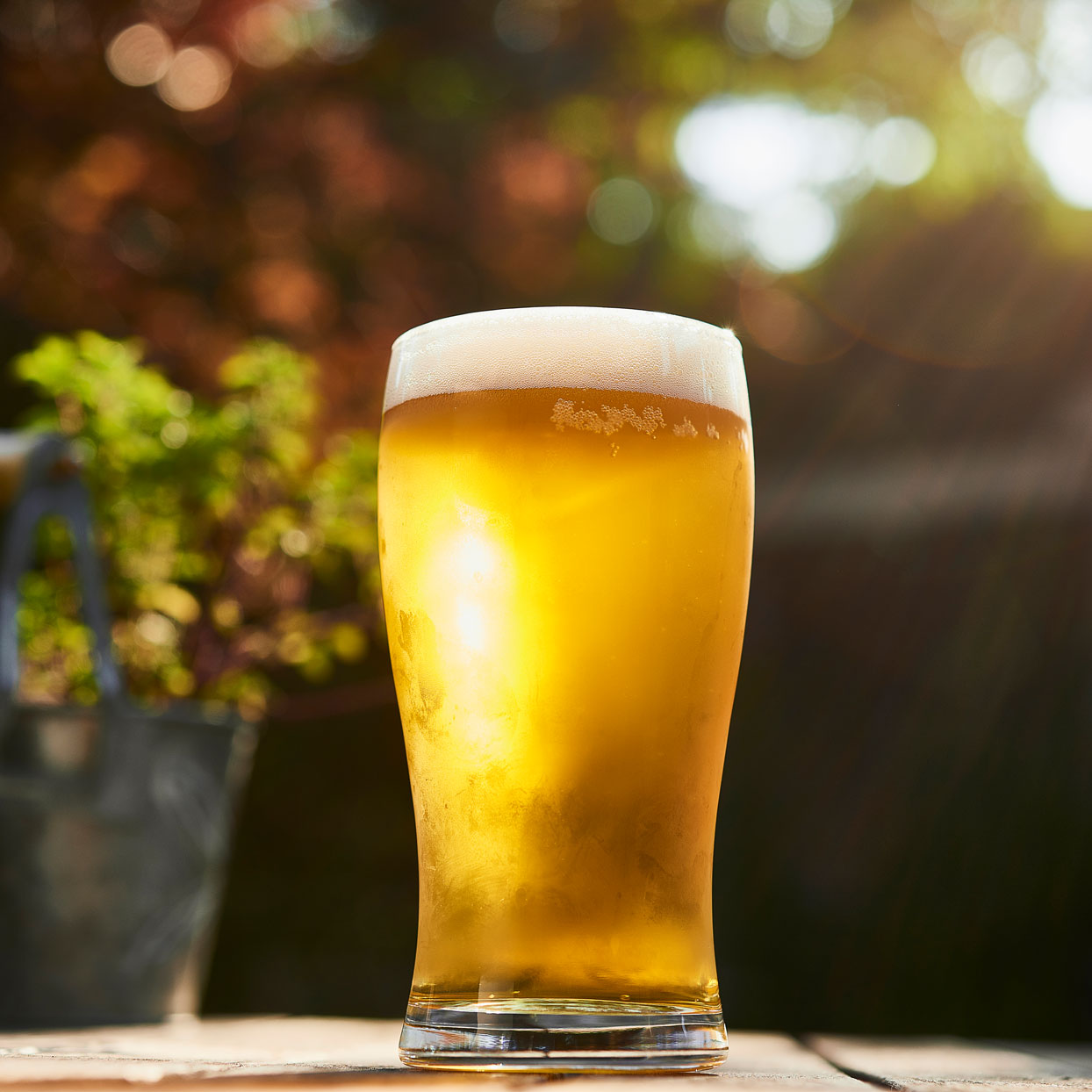 light beer on a table