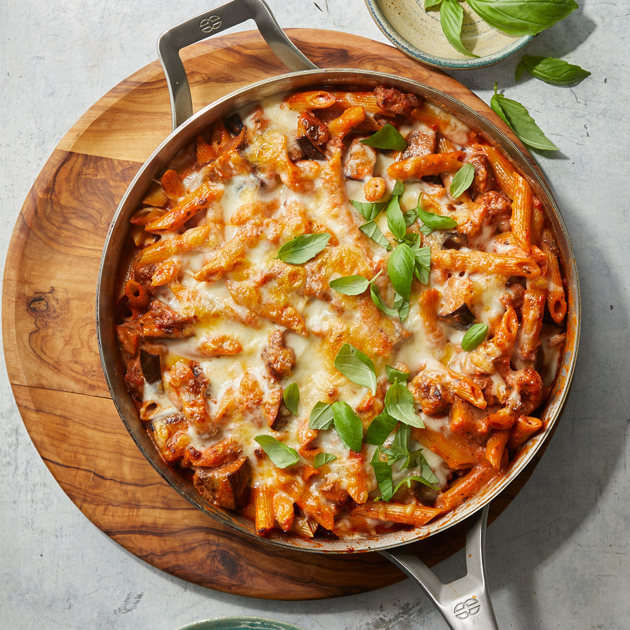 Penne with Sausage & Eggplant Bolognese