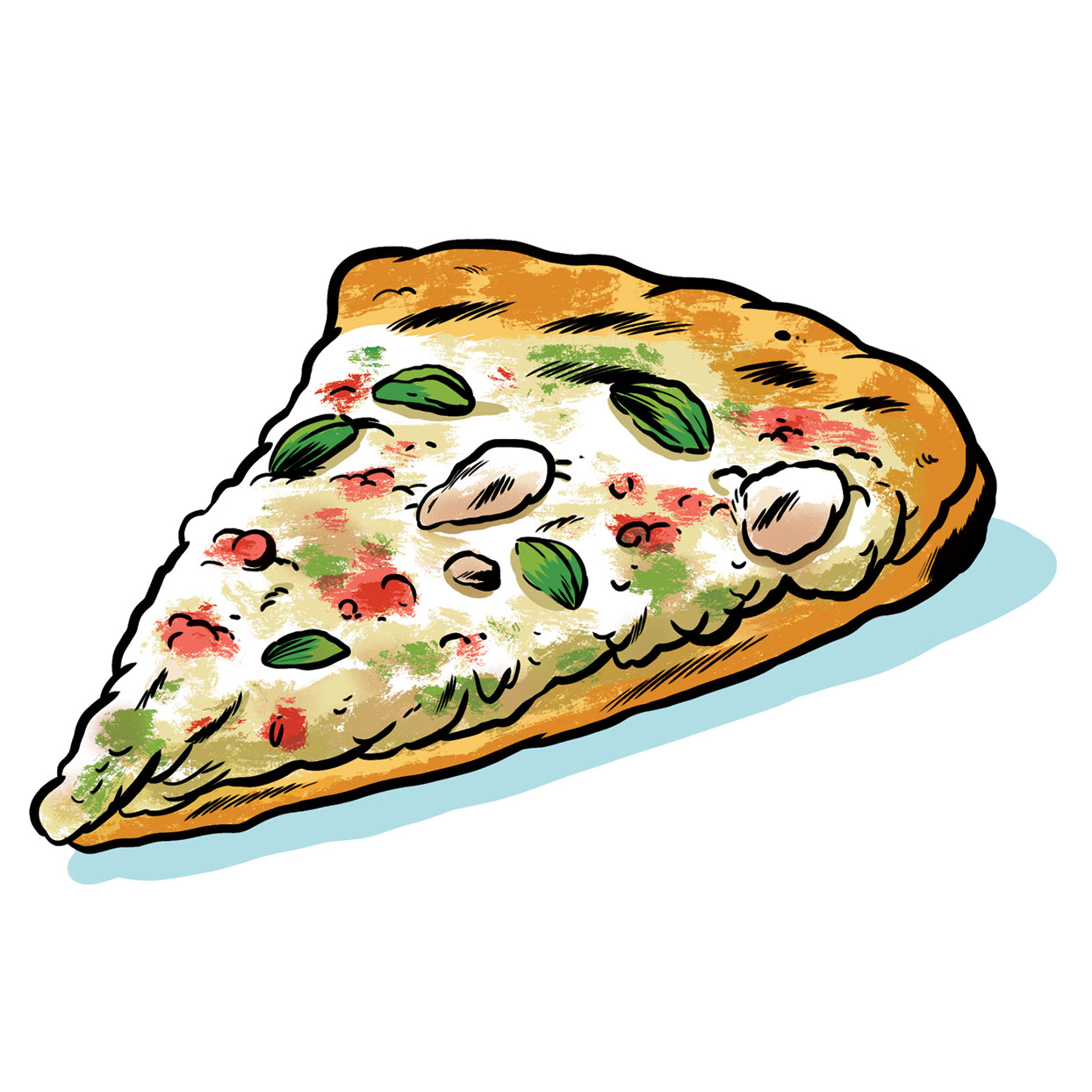 Turkey, Cranberry & Brussels Sprout Pizza illustration