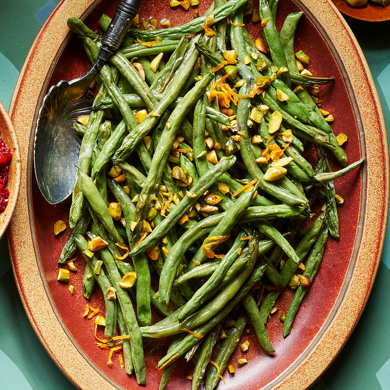 Green Beans with Pistachios & Orange