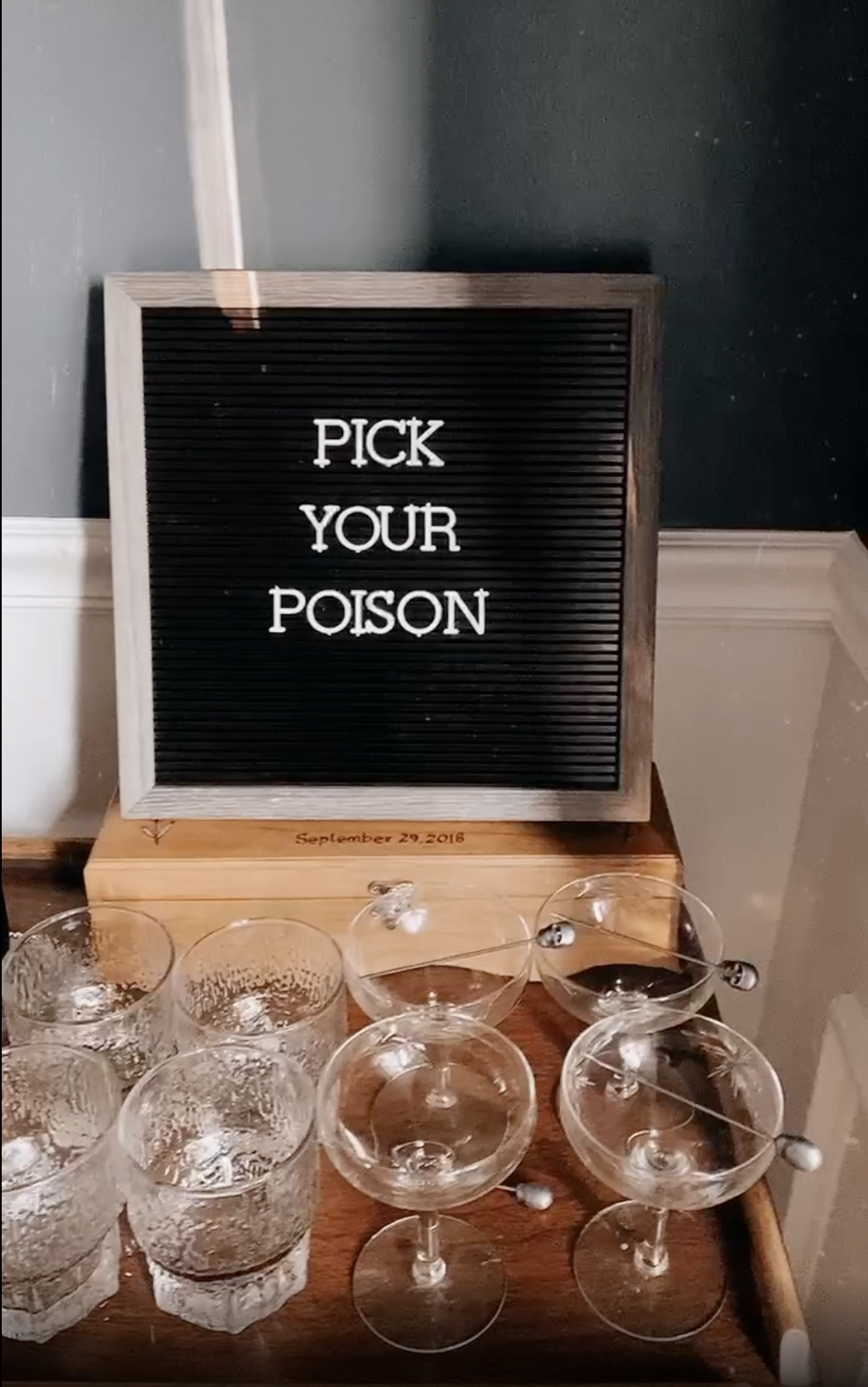 pick your poison bar sign