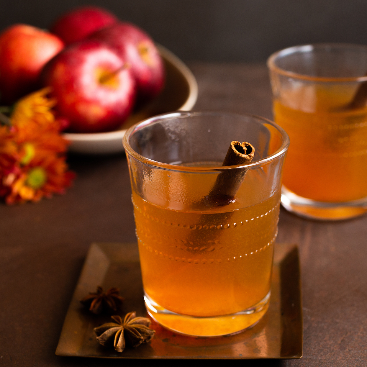 Big-Batch Hot Bourbon Cocktail with Maple & Apple Cider