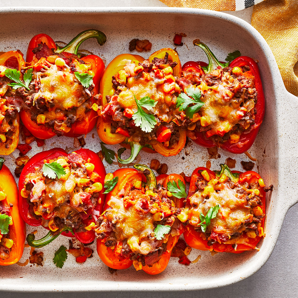 Cheesy Tex-Mex Taco Stuffed Peppers