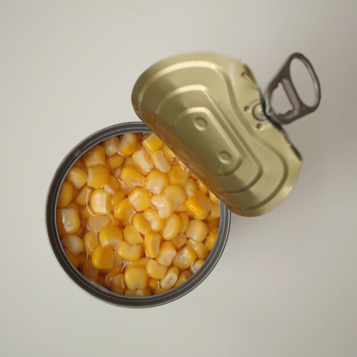 opened can of corn