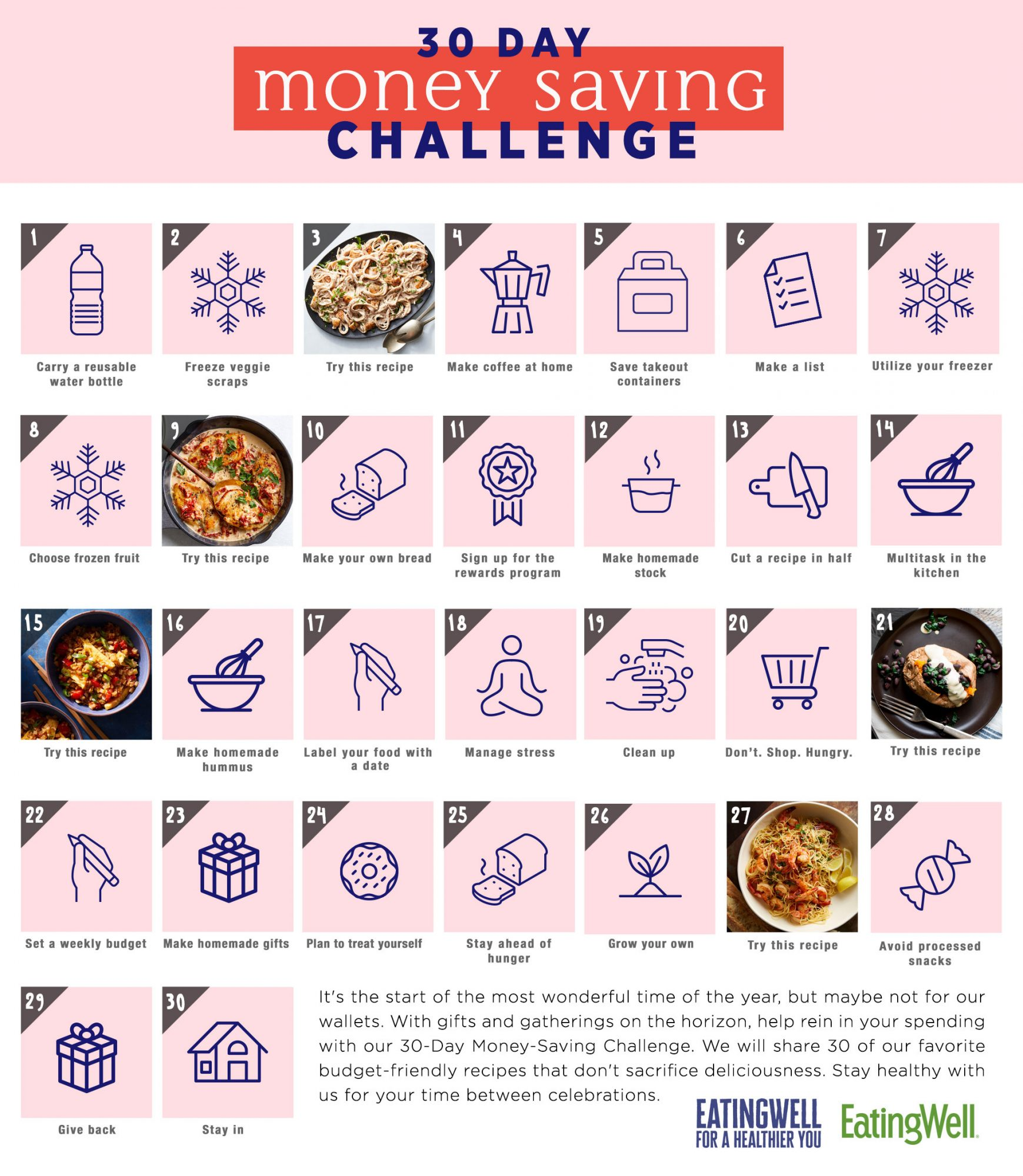 30-Day Money Saving Challenge Calendar