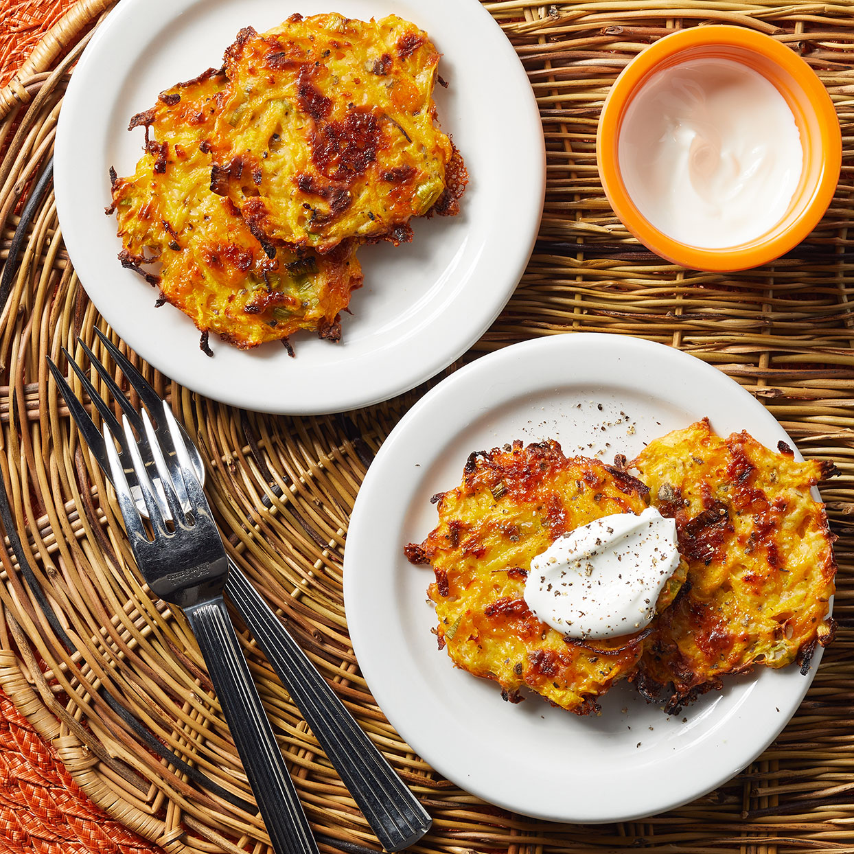 Cheesy Butternut Squash Fritters