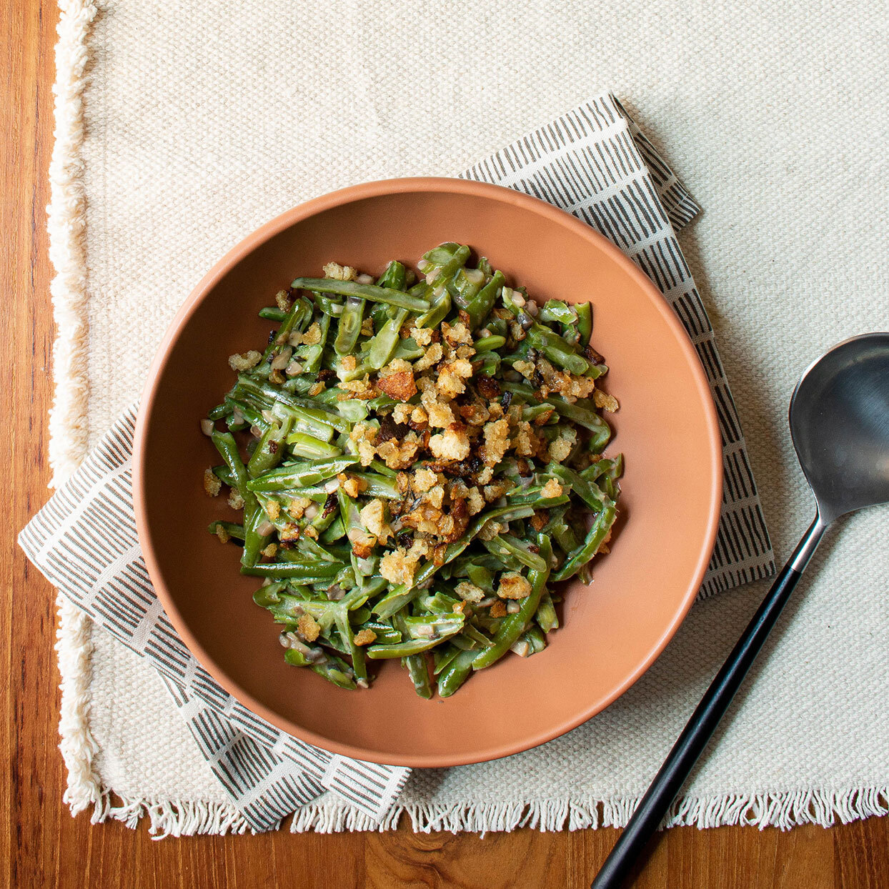 Skillet Green Bean Casserole for Two