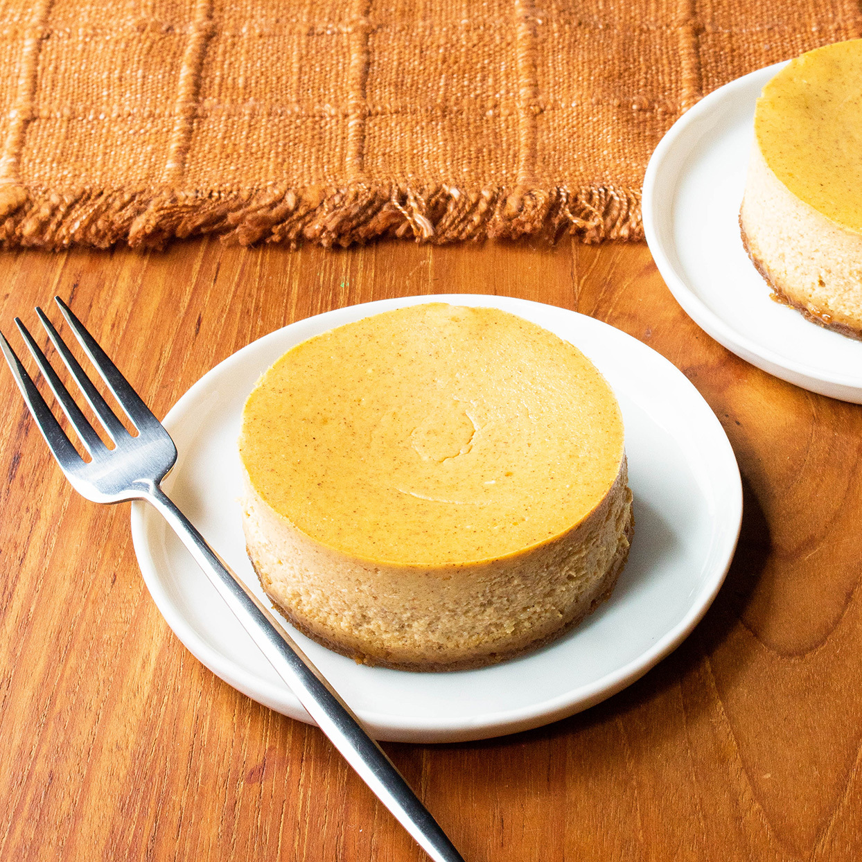 Pumpkin Cheesecake for Two