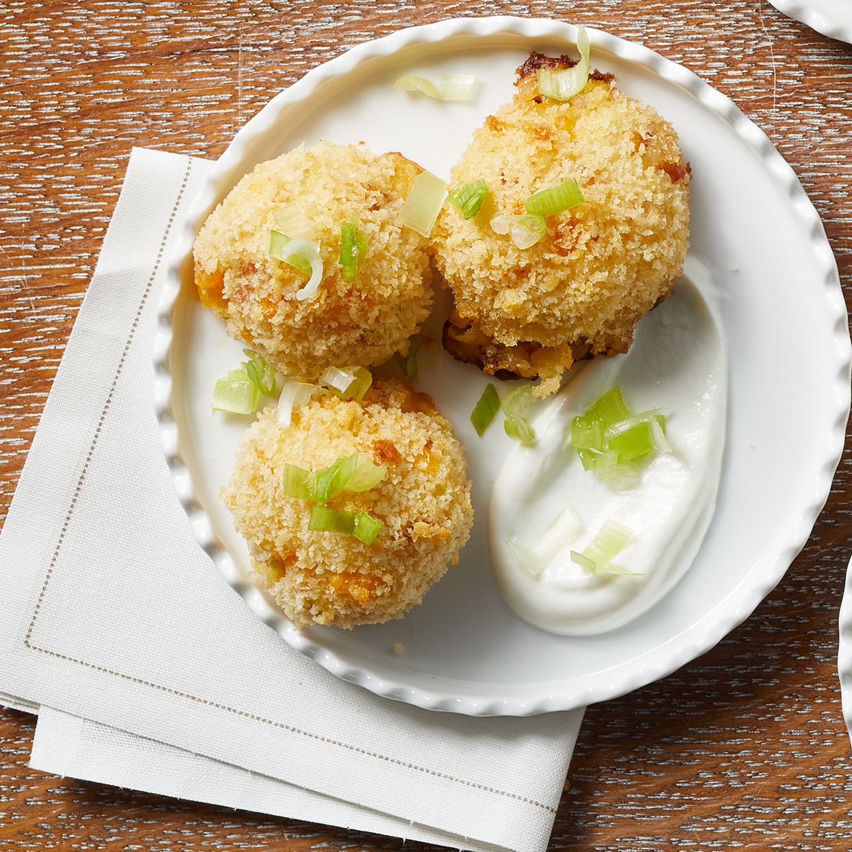 Crispy Loaded Mashed Potato Balls