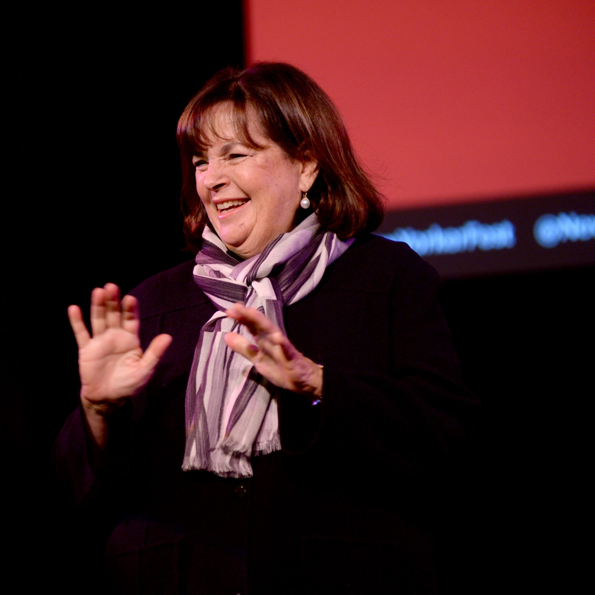 Ina Garten speaking at an event