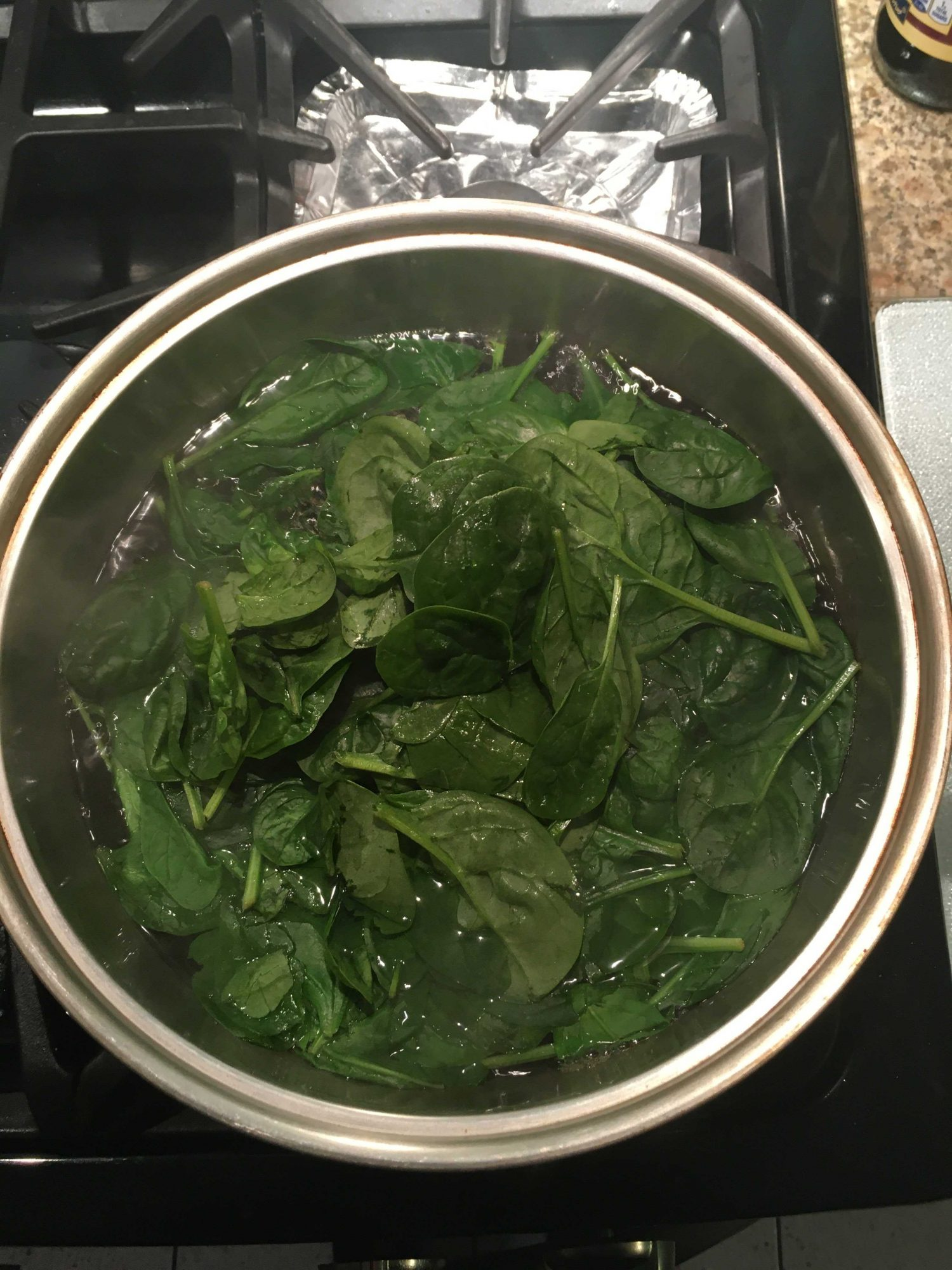 boiled spinach