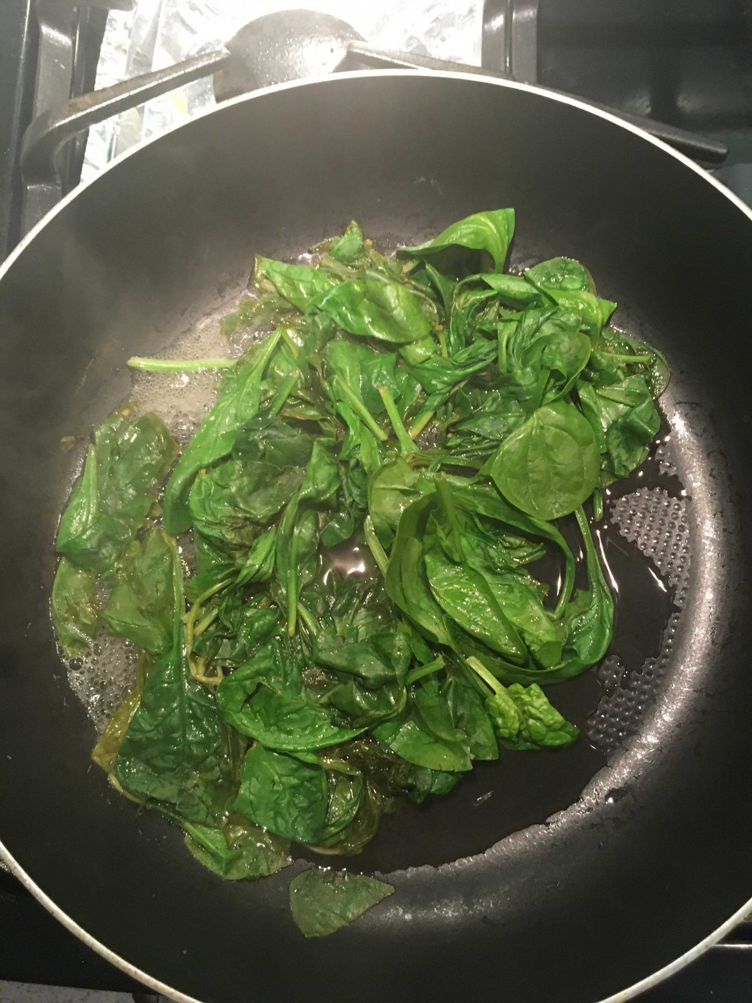 spinach with lemon juice