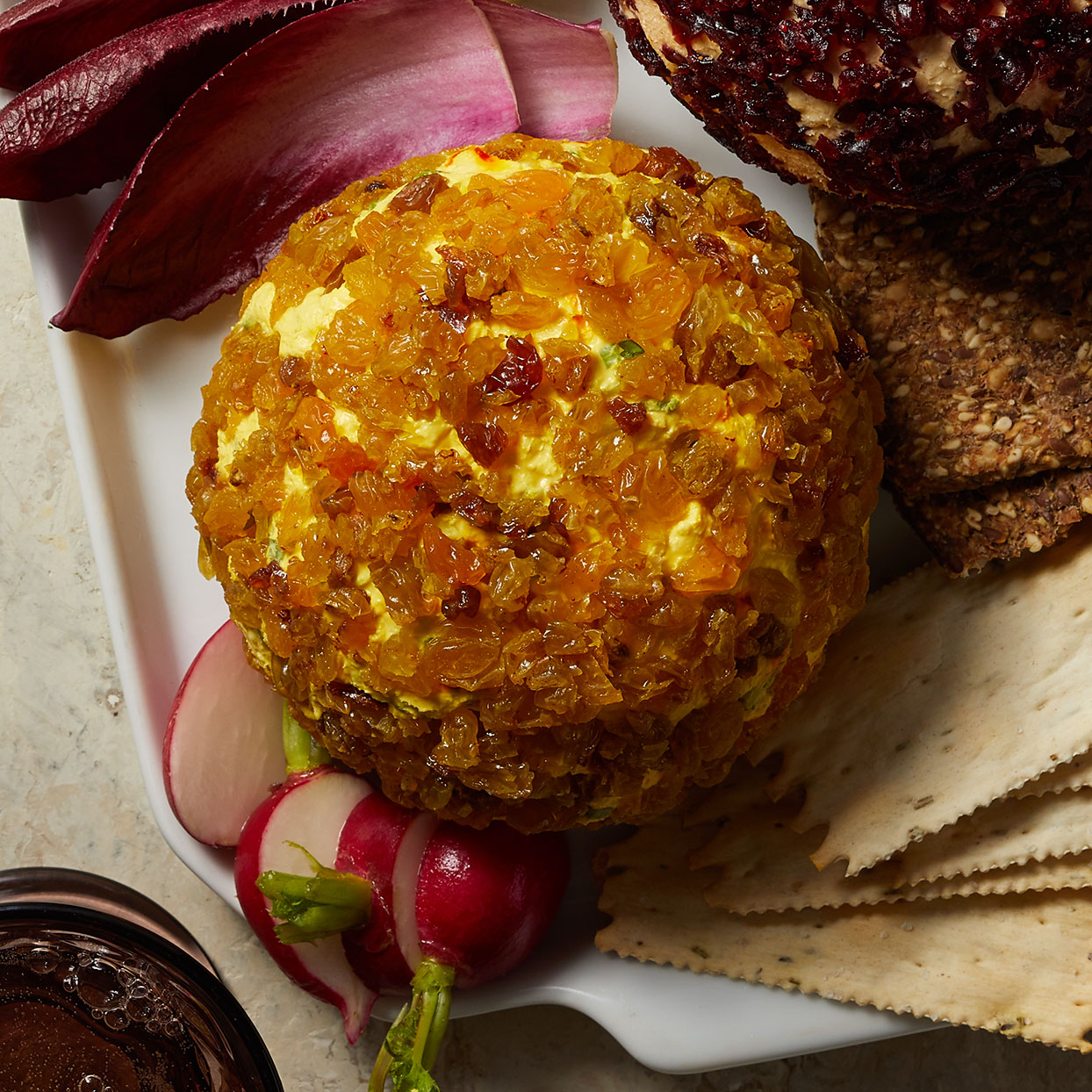 Saffron-Raisin Cheese Ball