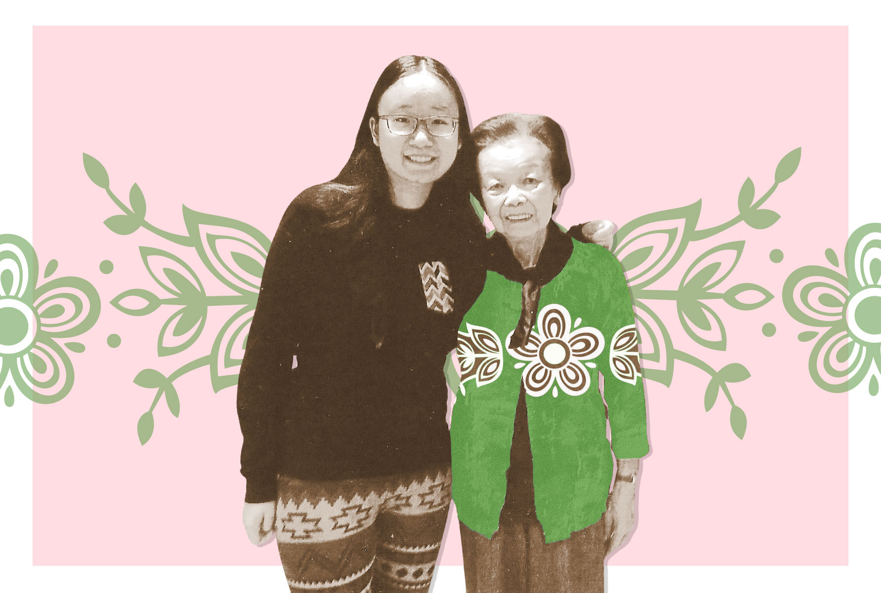 alex loh with her grandmother, Mary