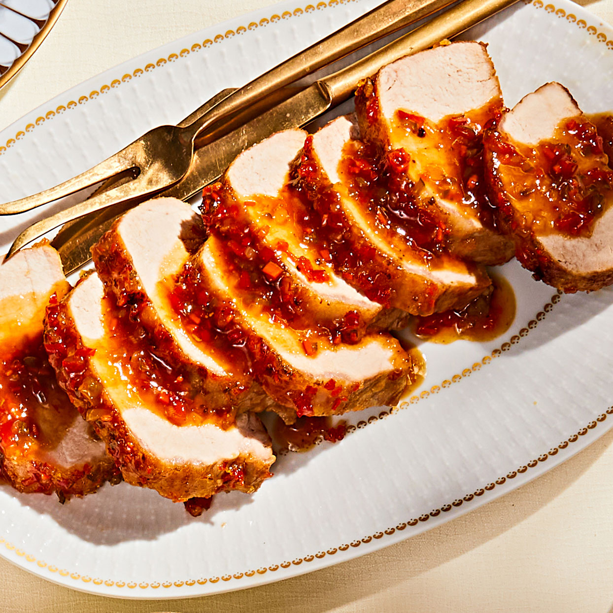 Pork Loin Roast with Pepper Jelly Glaze