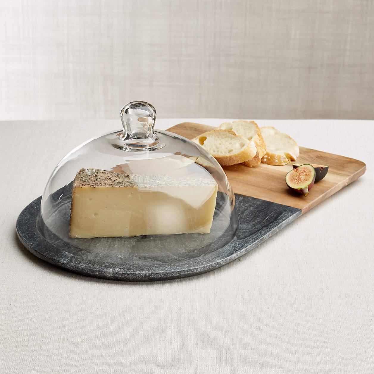 wood and marble cheese board