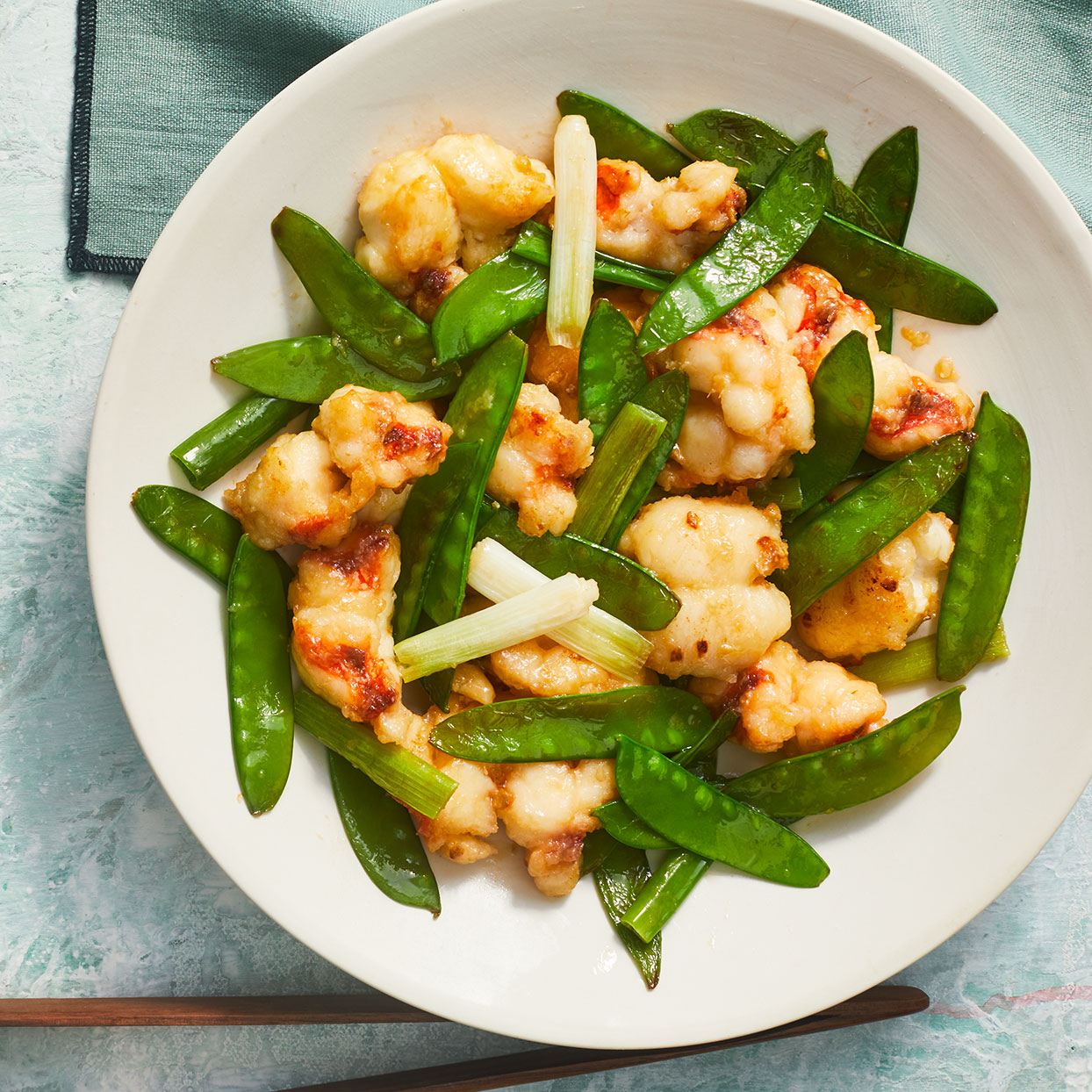 Lobster, Ginger & Scallion Stir-Fry