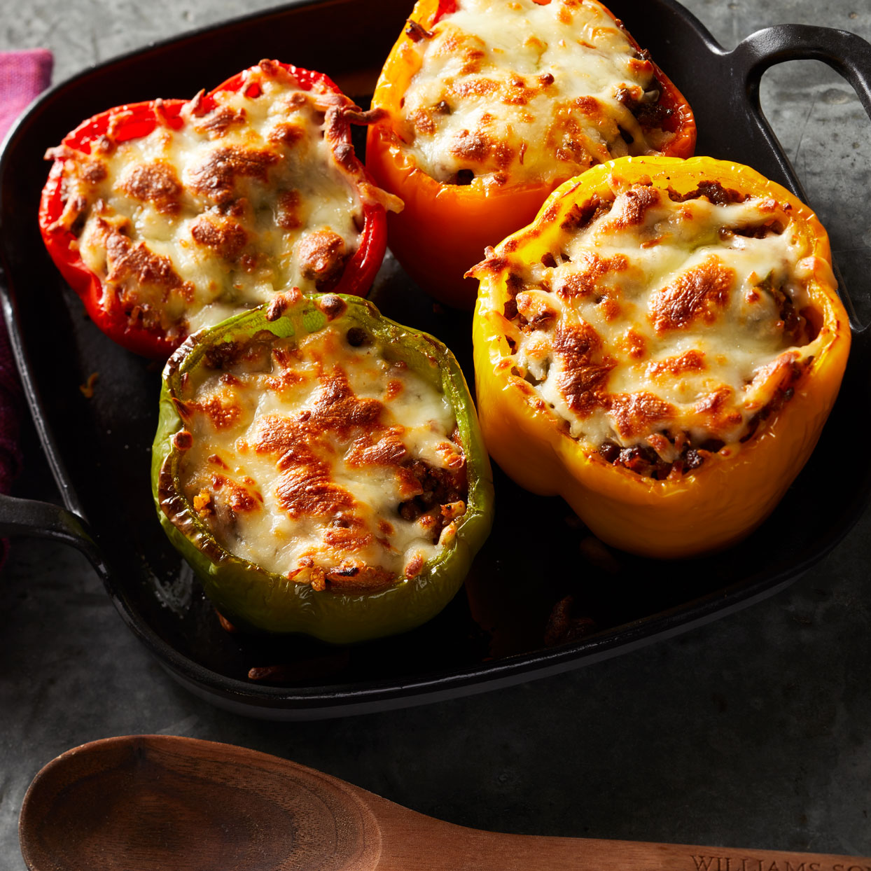 Cauliflower Rice-Stuffed Peppers