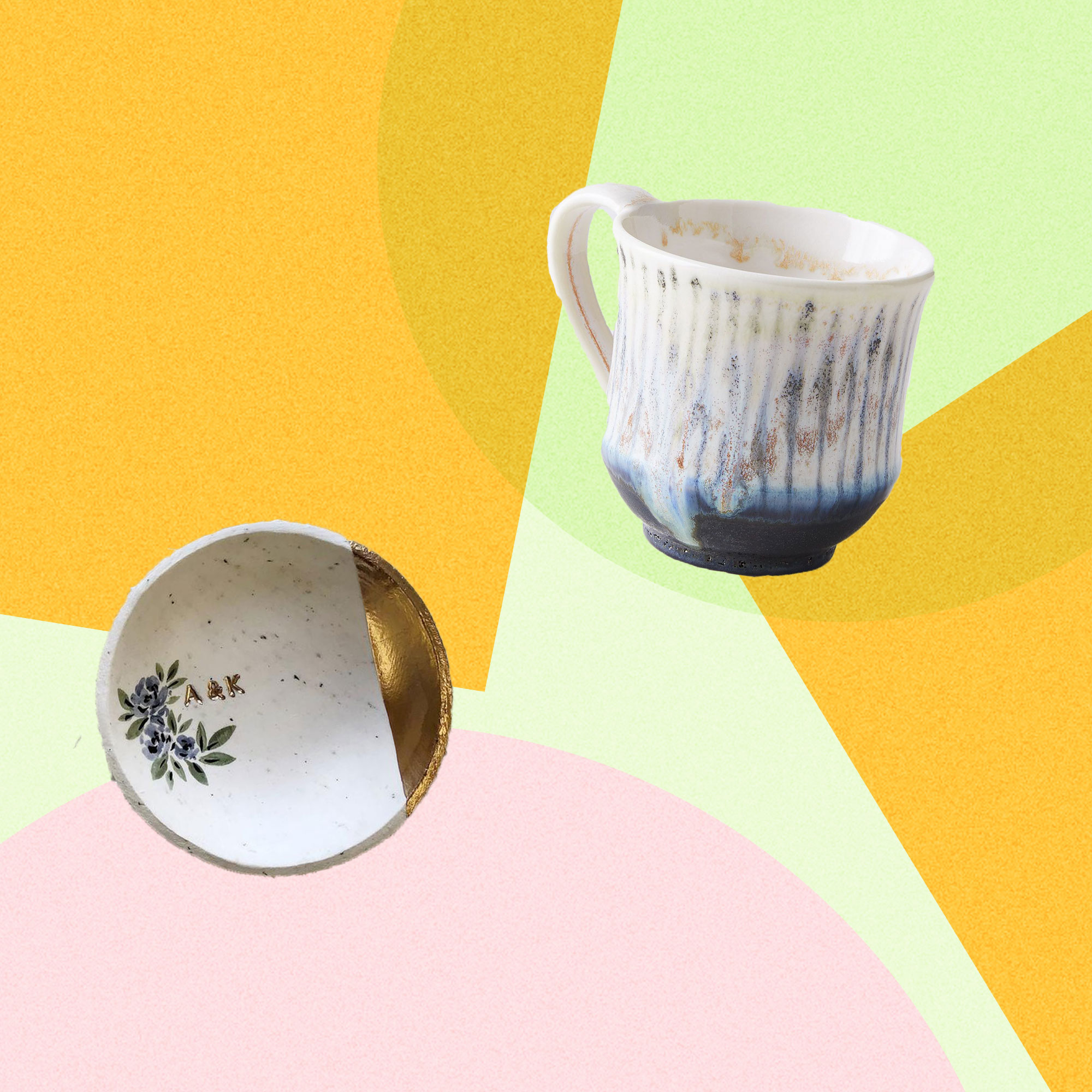 jewelry dish and mug