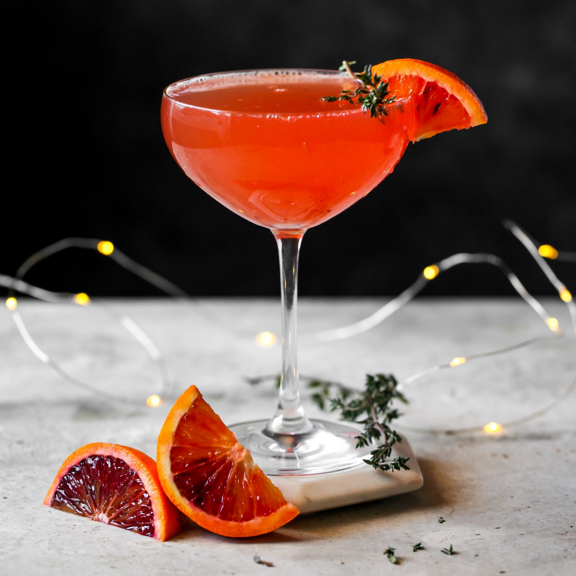 blood orange gin and prosecco