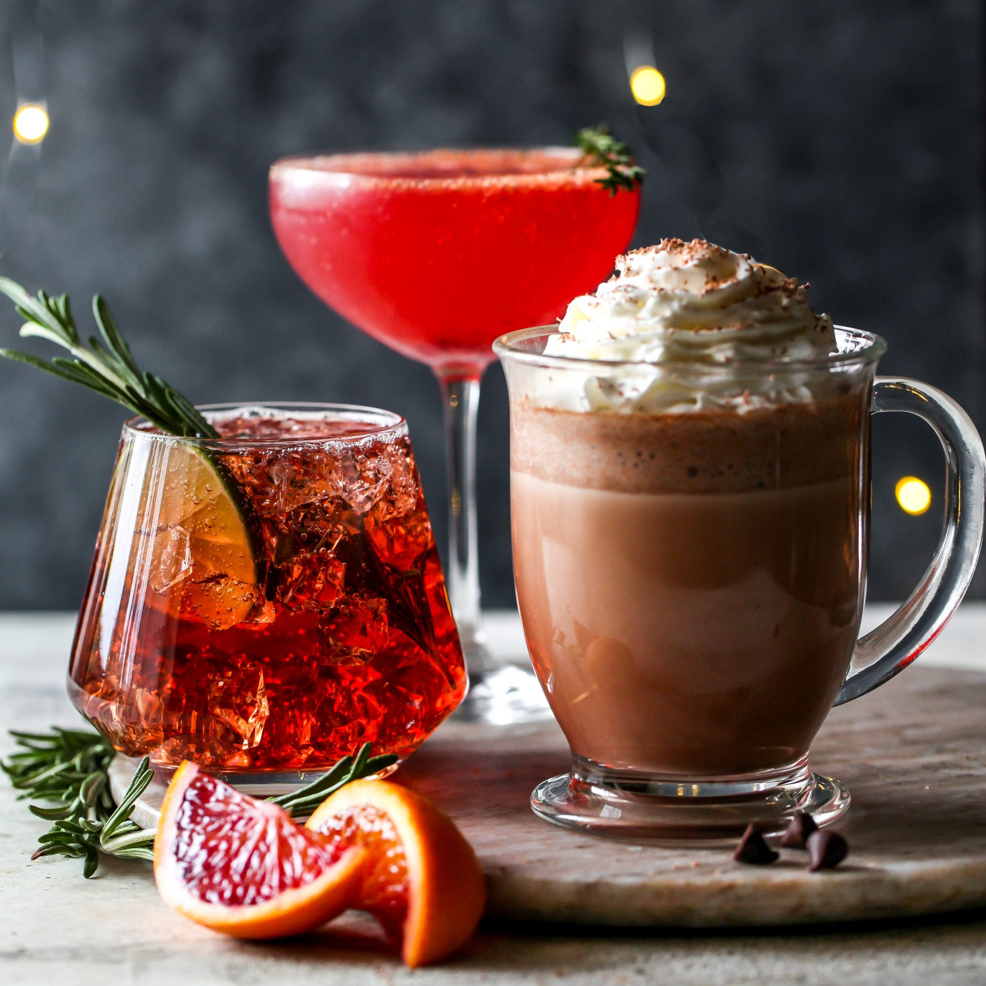festive 3 ingredient cocktails