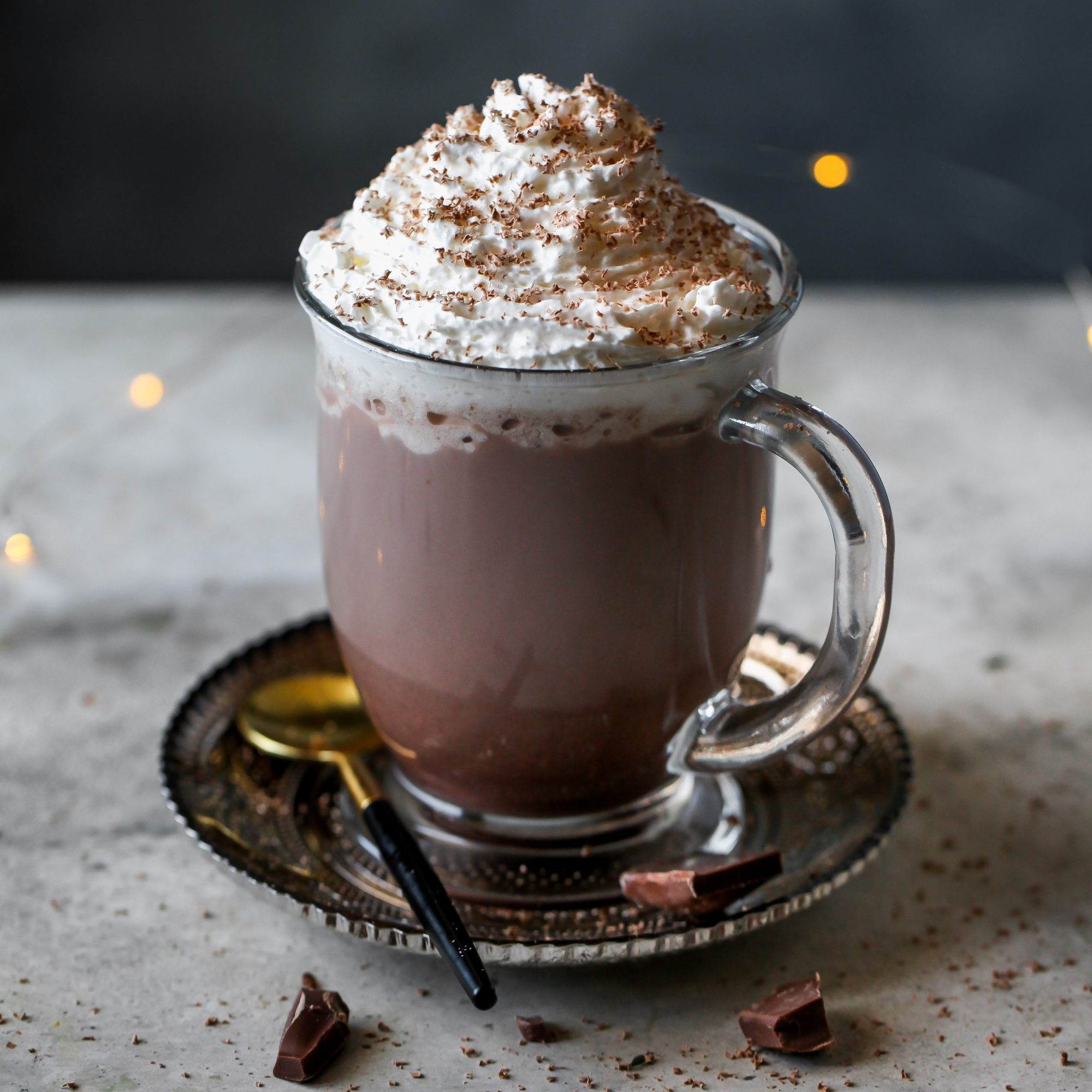 Spiked Hot Chocolate with Bailey's and Chambord