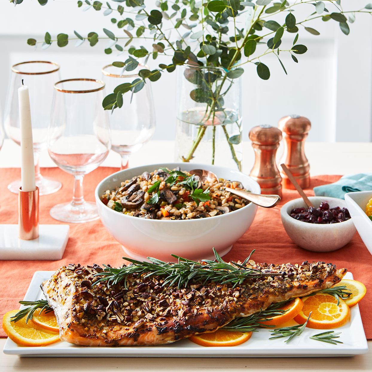 Pecan-Rosemary Crusted Salmon