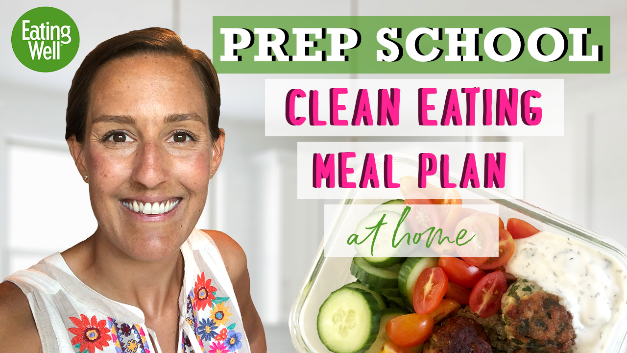 Prep School Clean Eating Meal Plan with headshot of host Victoria Seaver