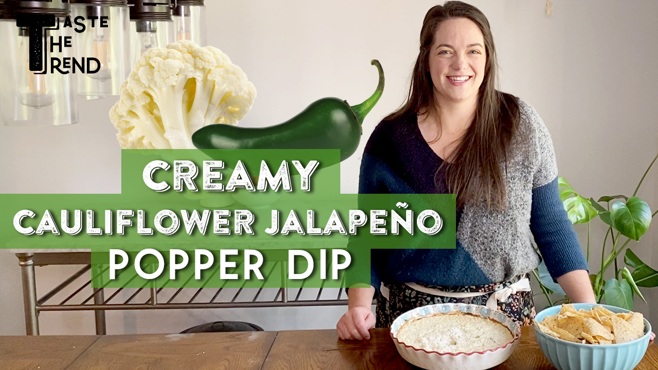Taste the Trend Jalapeno Popper Dip with headshot of host Devon O'Brien