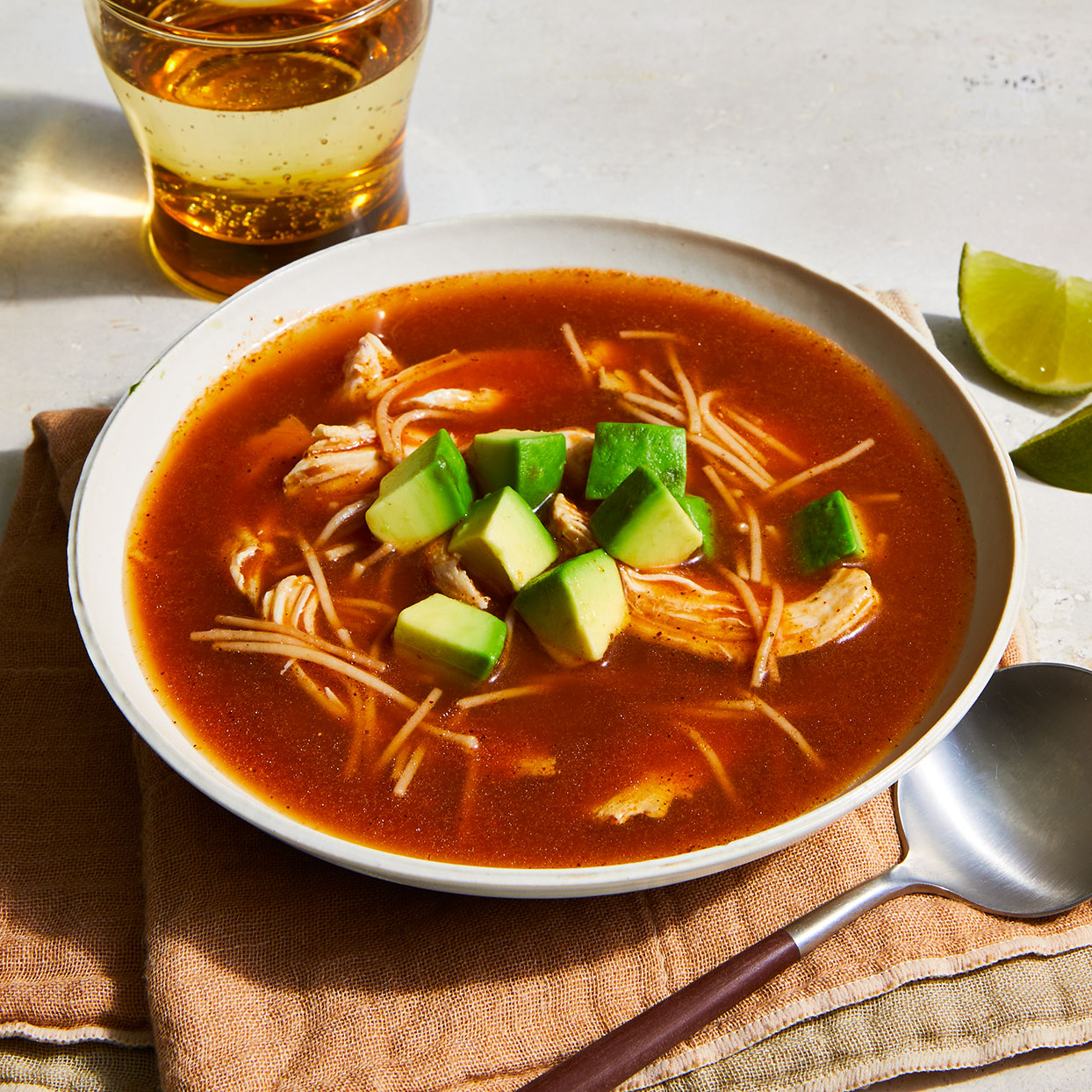 Sopa de Fideos (Chicken Noodle Soup with Sofrito)