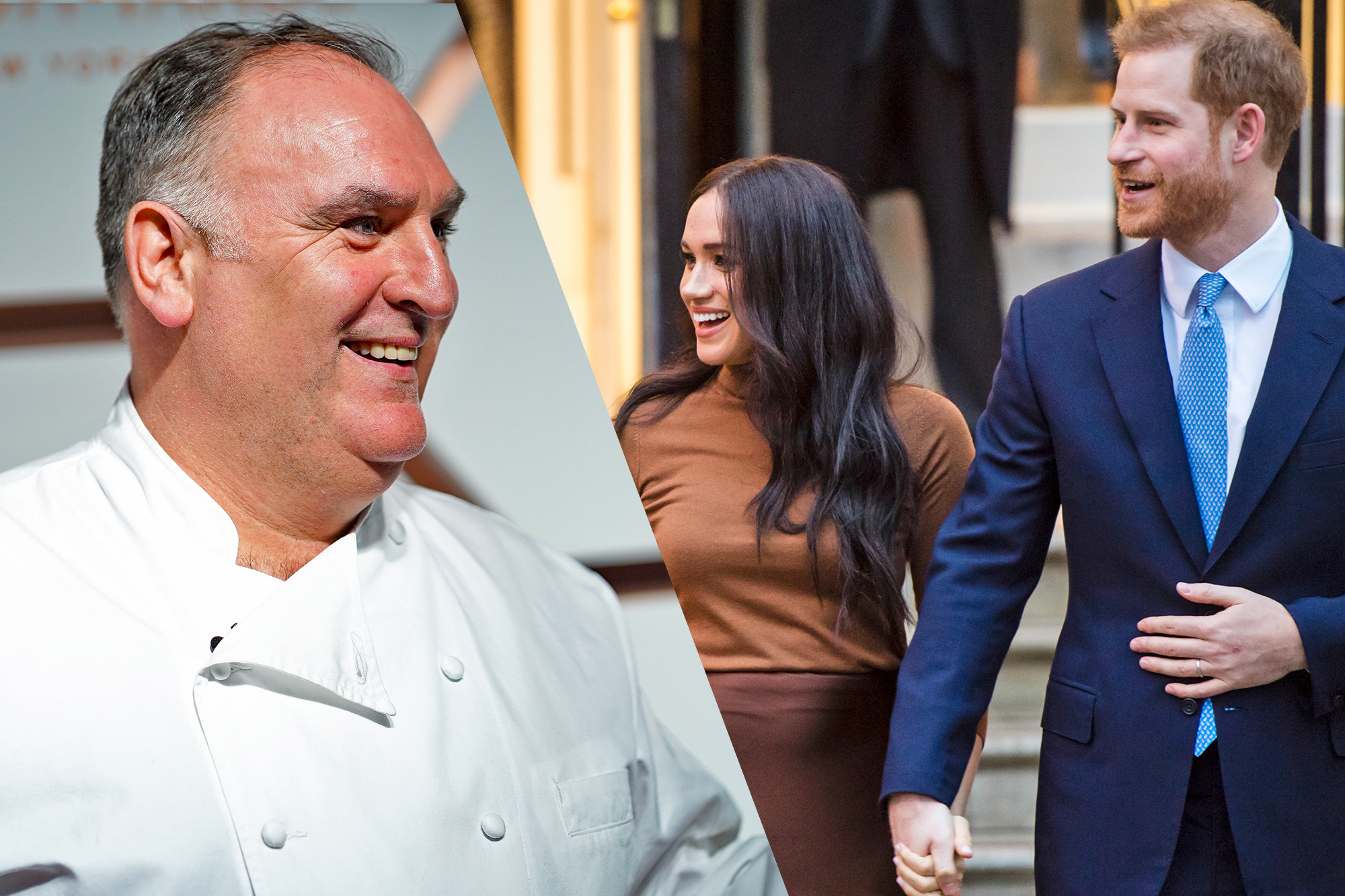 Jose Andres, Meghan Markle and Prince Harry