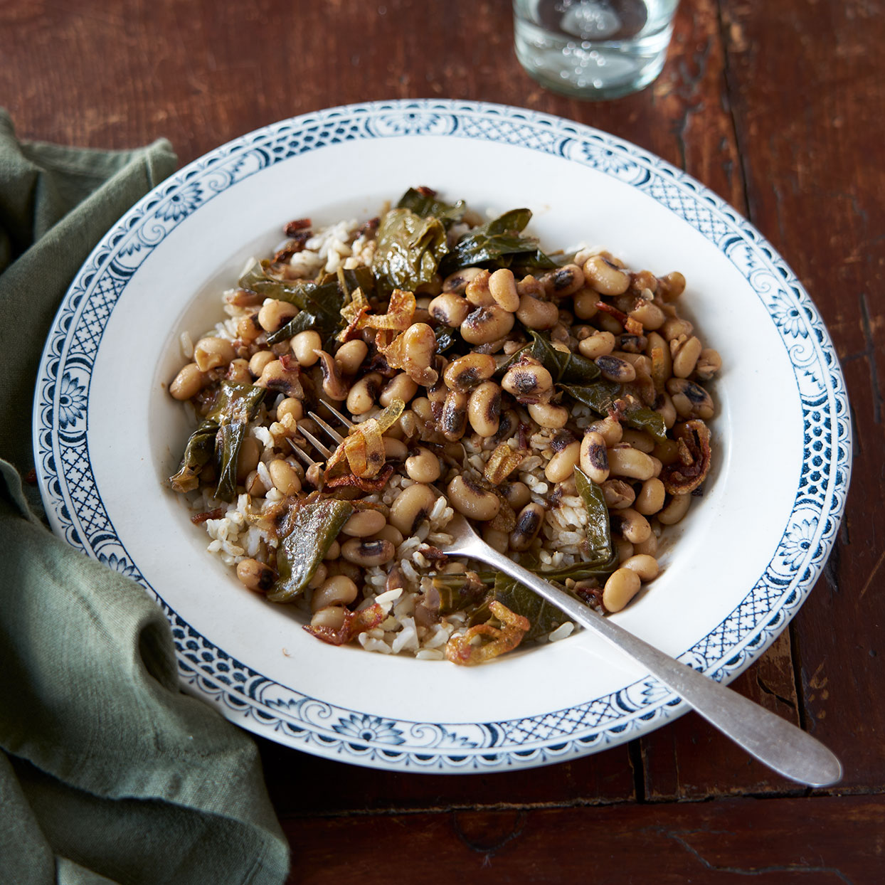 Chipotle Black-Eyed Peas & Collards
