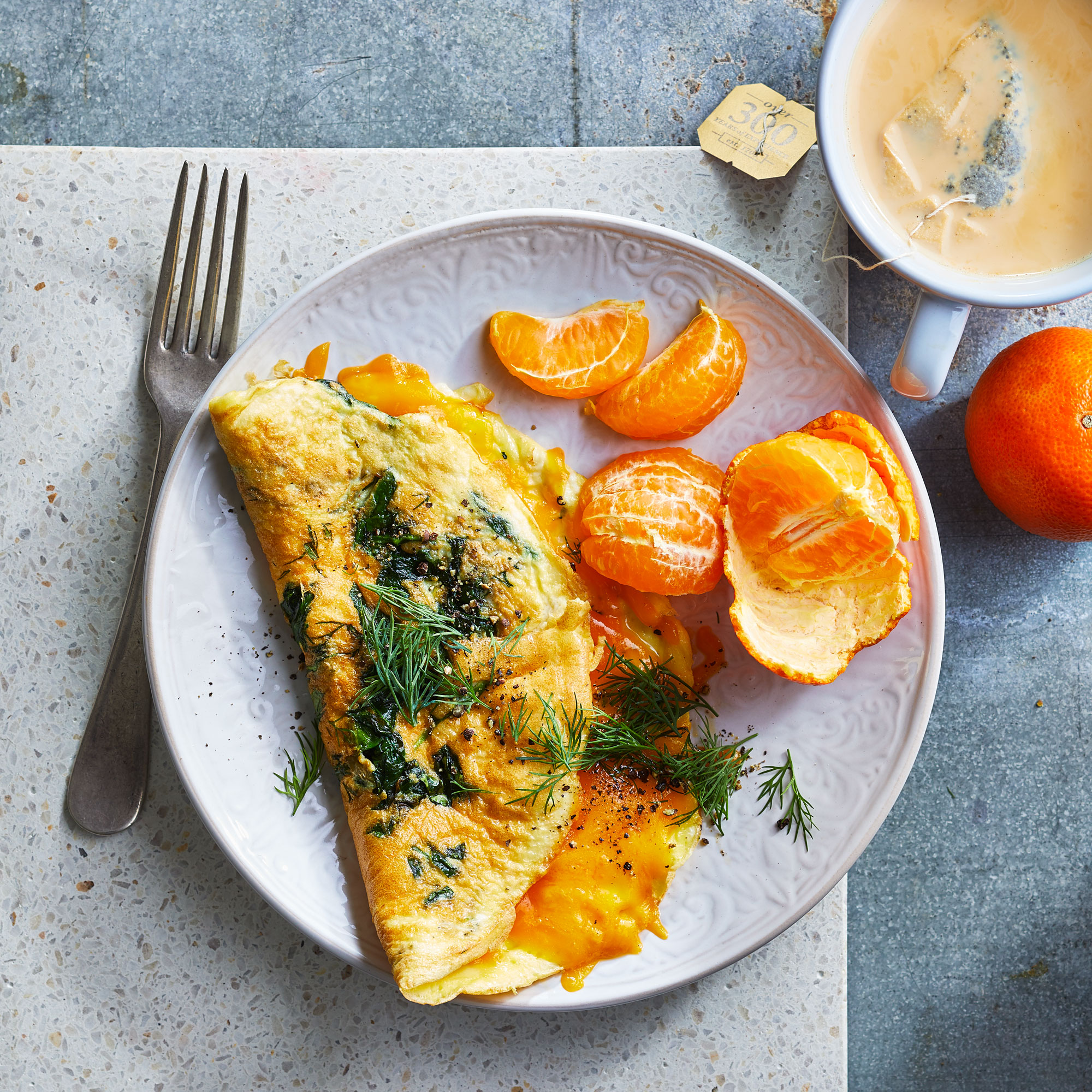 10-Minute Spinach Omelet