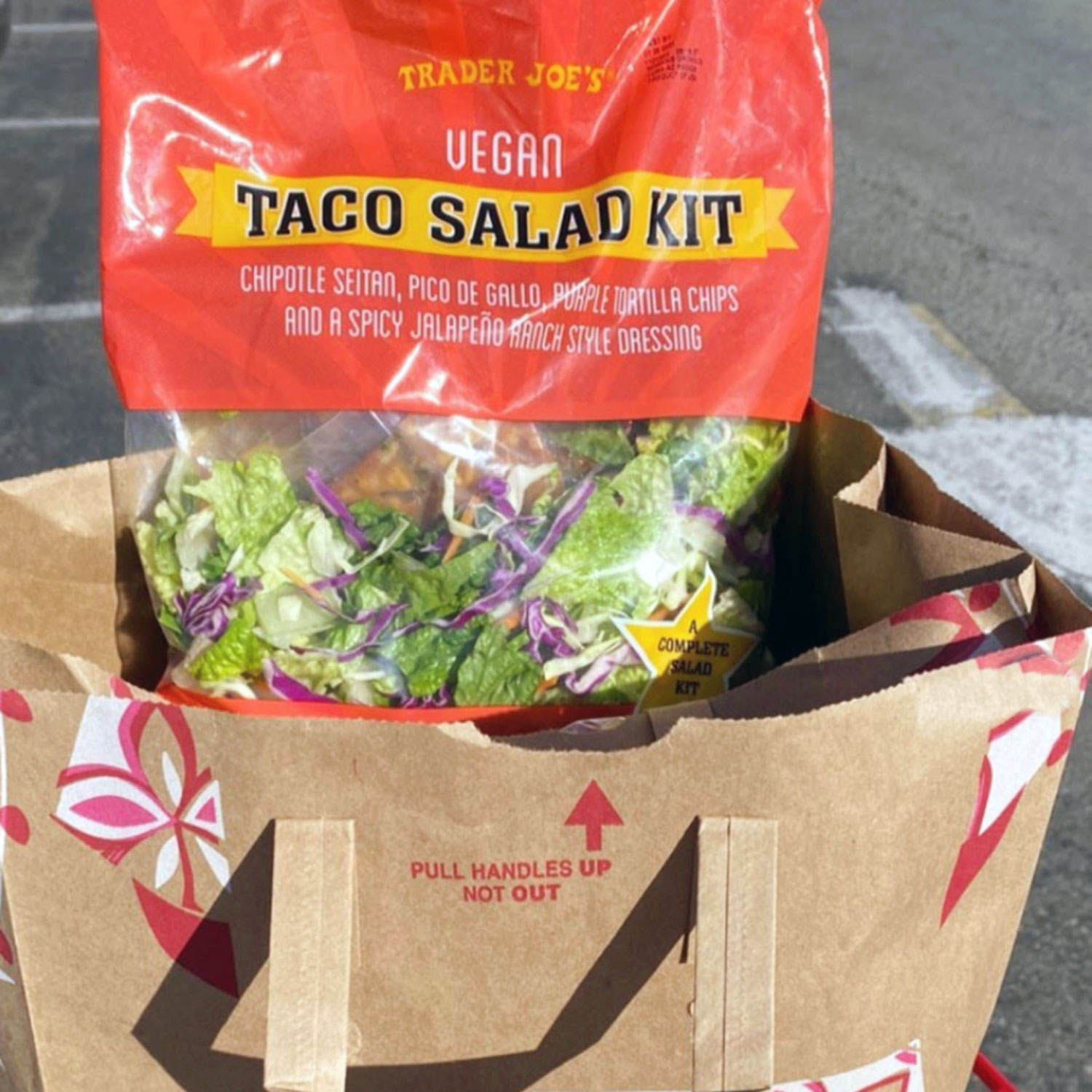trader joe's vegan taco salad kit