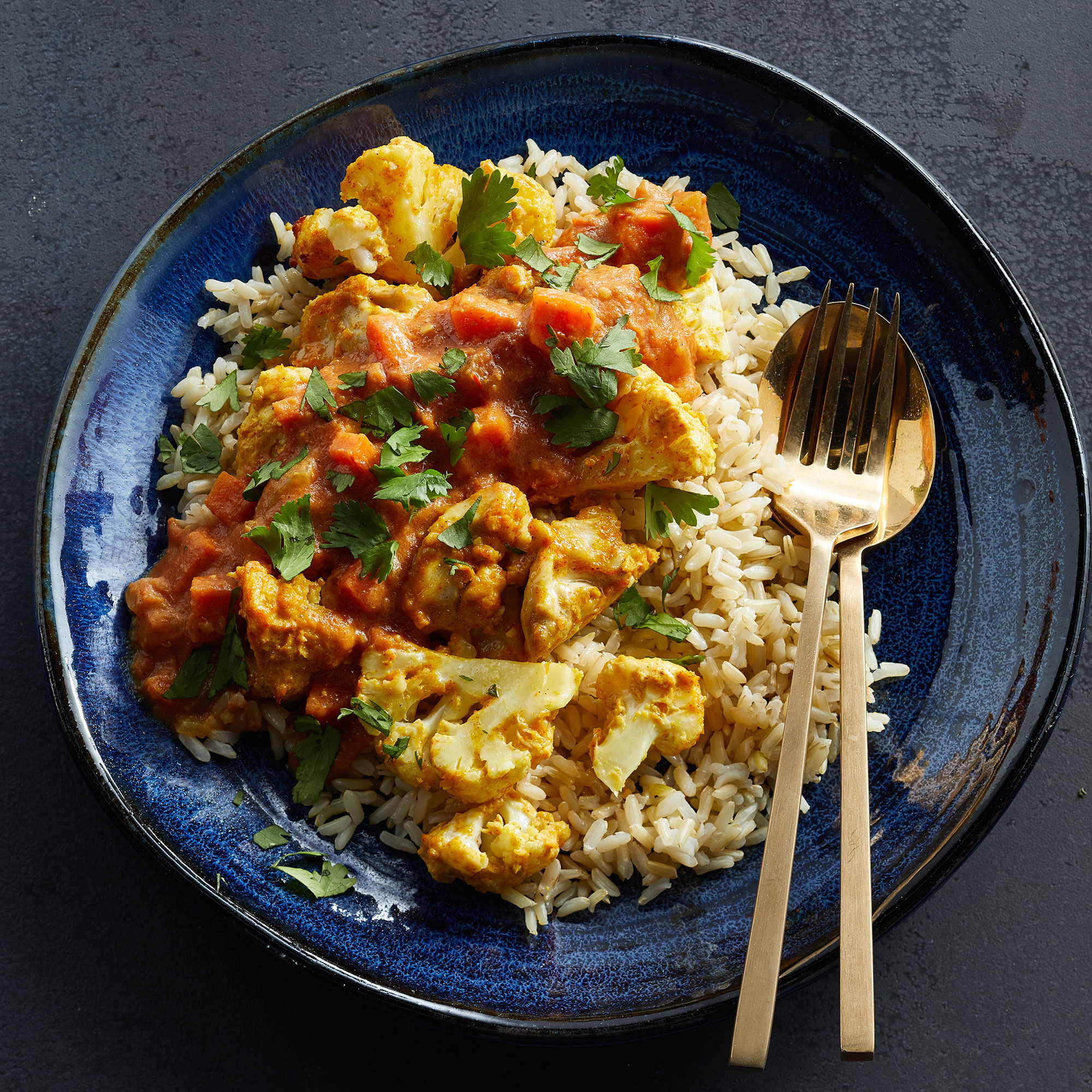 Cauliflower Chicken Curry