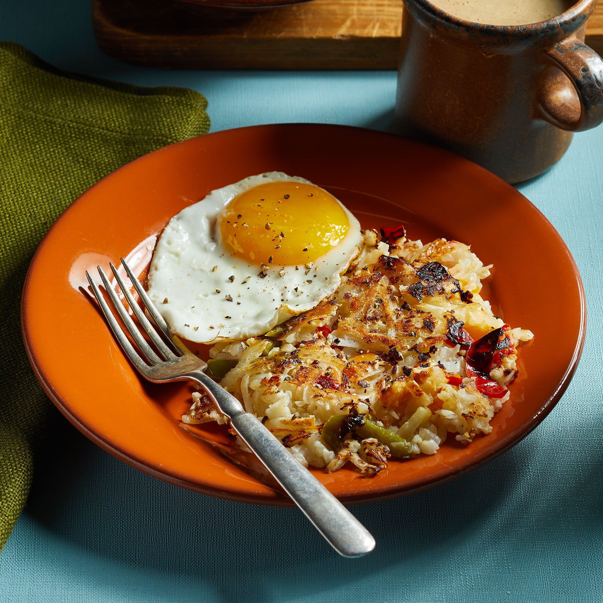 Quick Cauliflower Hash Browns