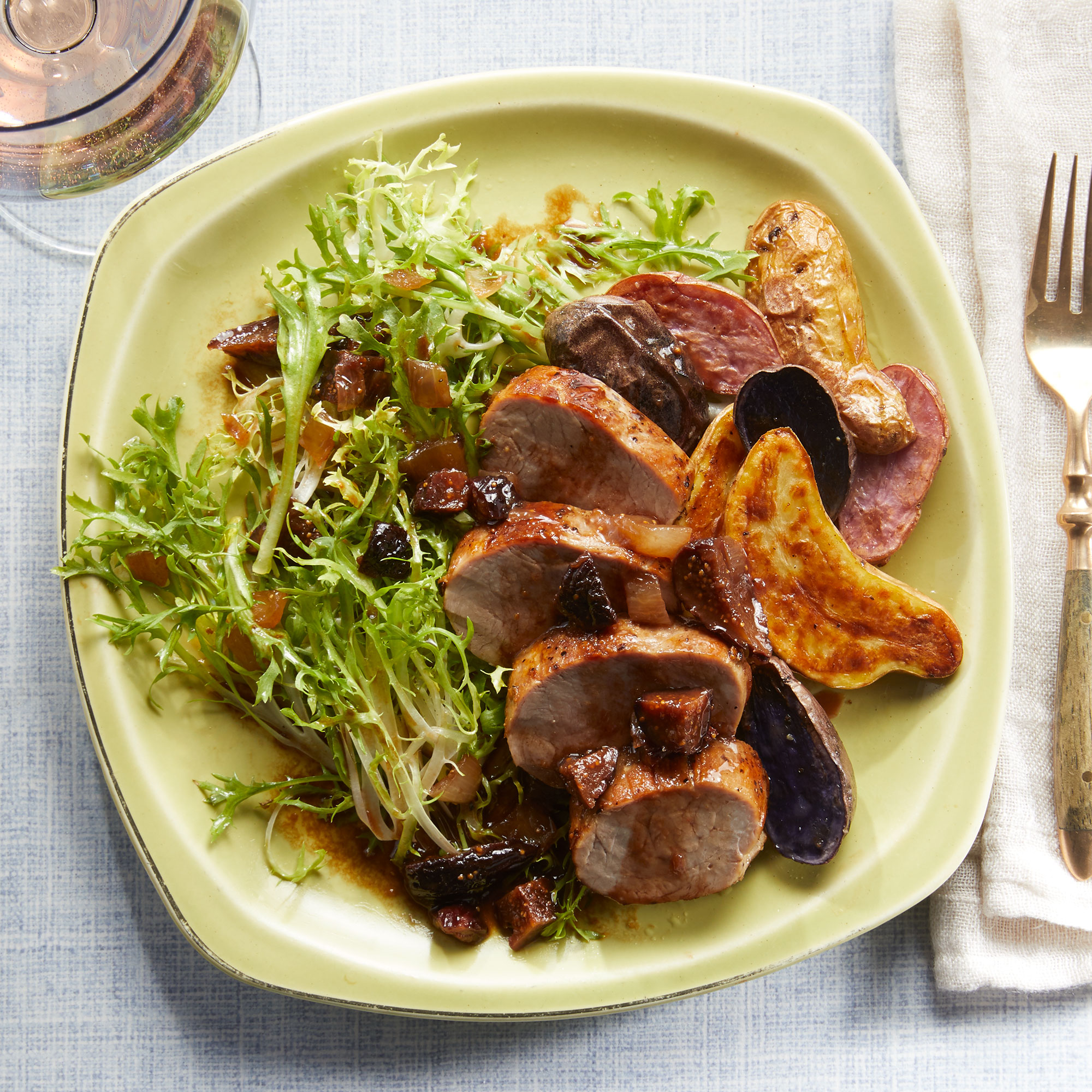 Roasted Pork & Potatoes with Fig Sauce