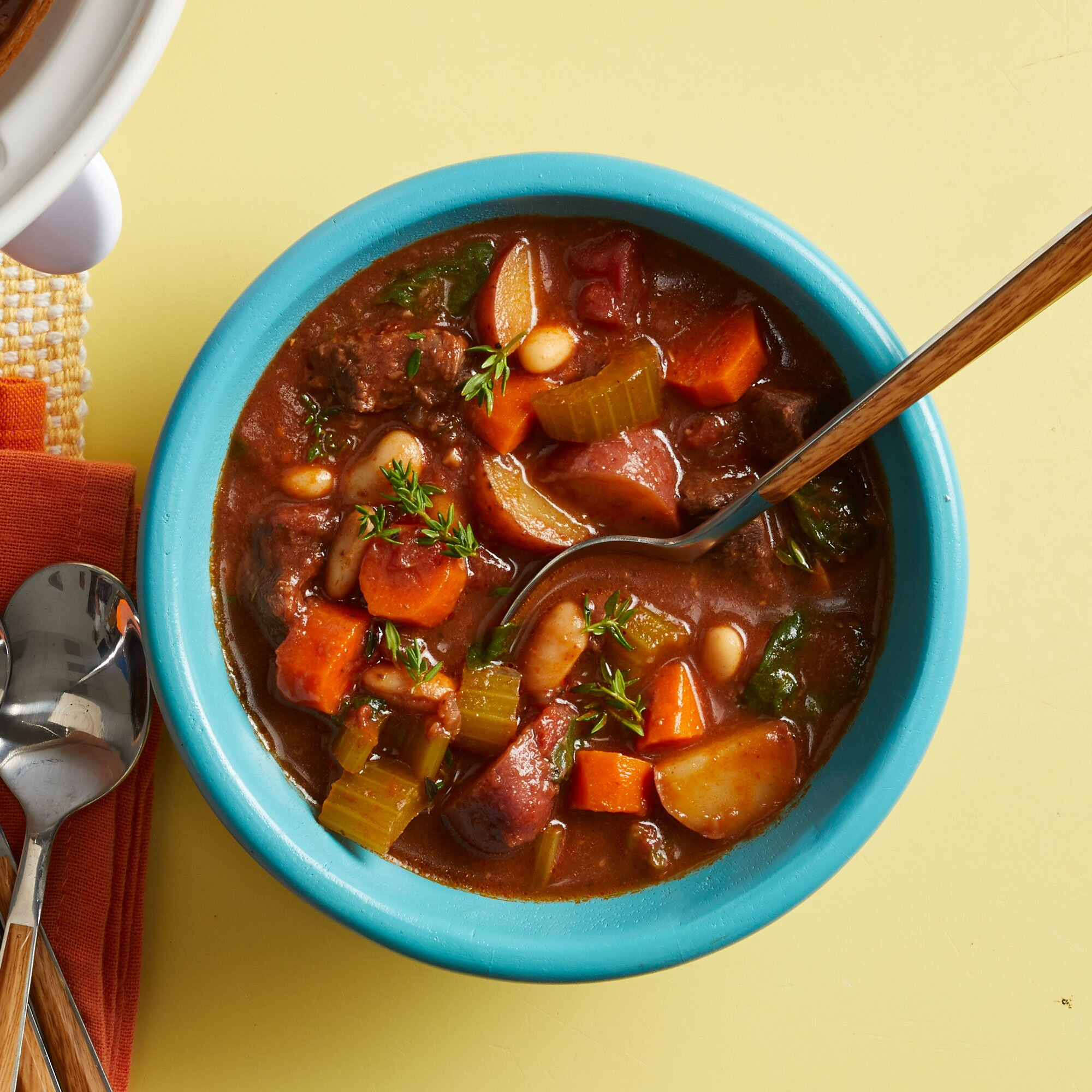 Slow Cooker Beef Stew With Cannellini Beans Recipe Eatingwell