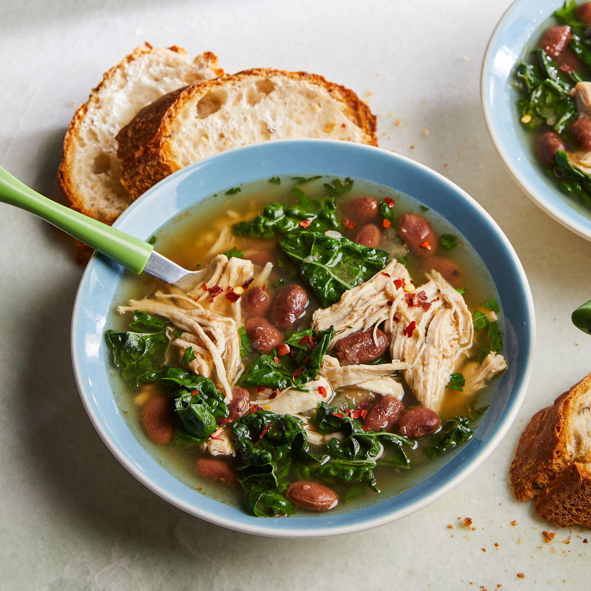 Smoky Pinto Bean & Kale Stew with Chicken