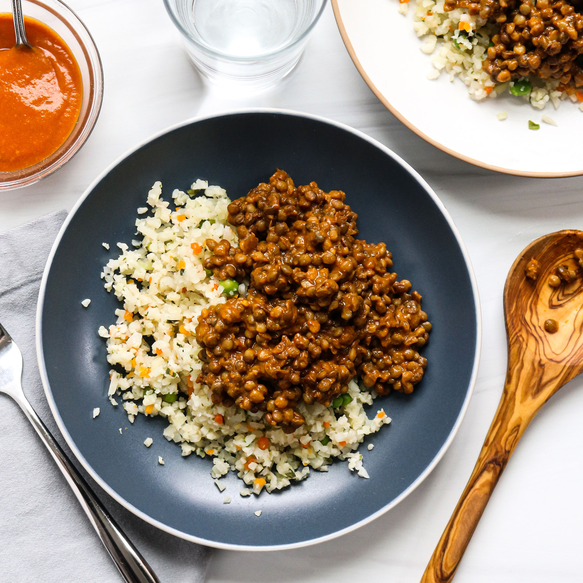 Lentil Curry with Cauliflower Rice