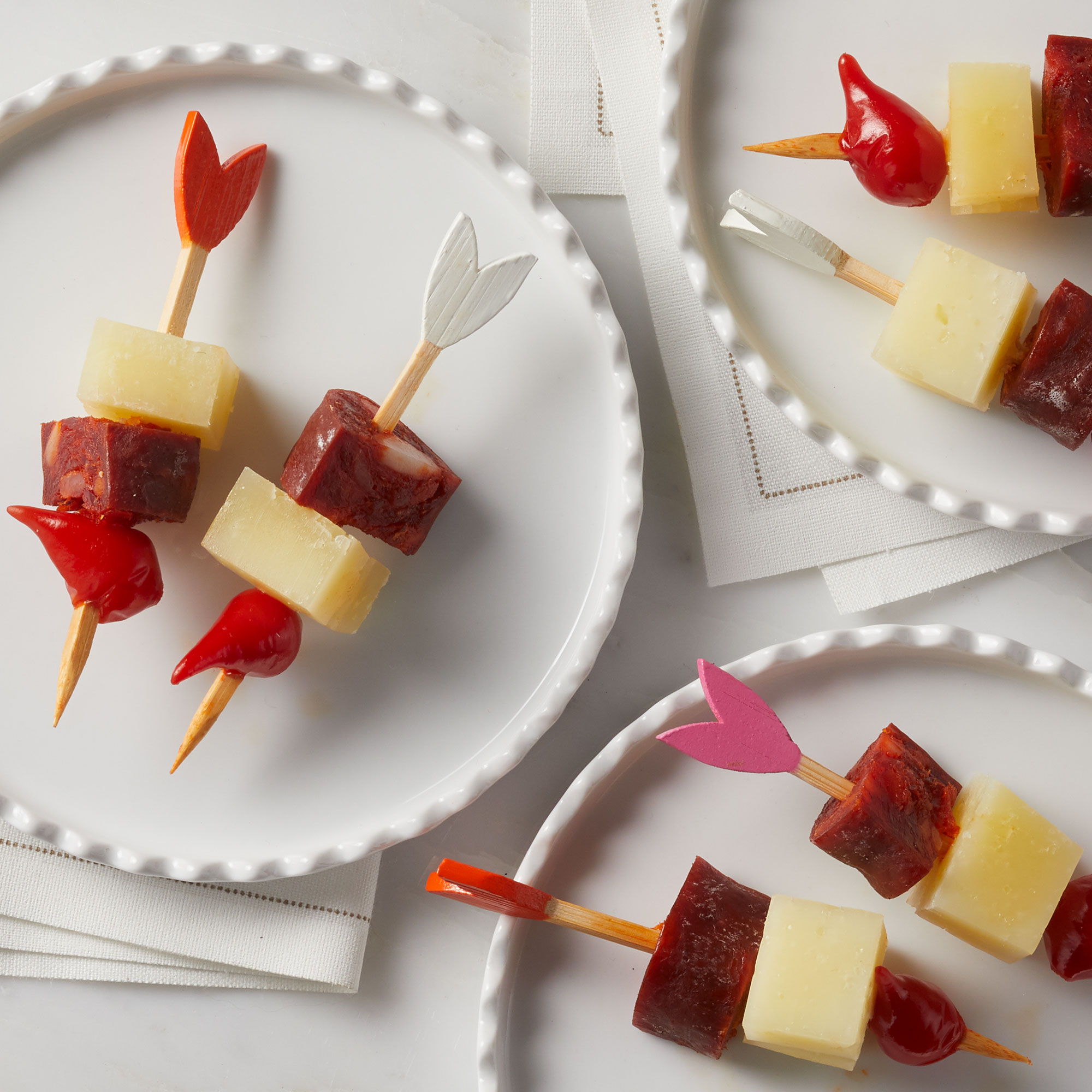Manchego, Pepper Drop & Chorizo Charcuterie Sticks