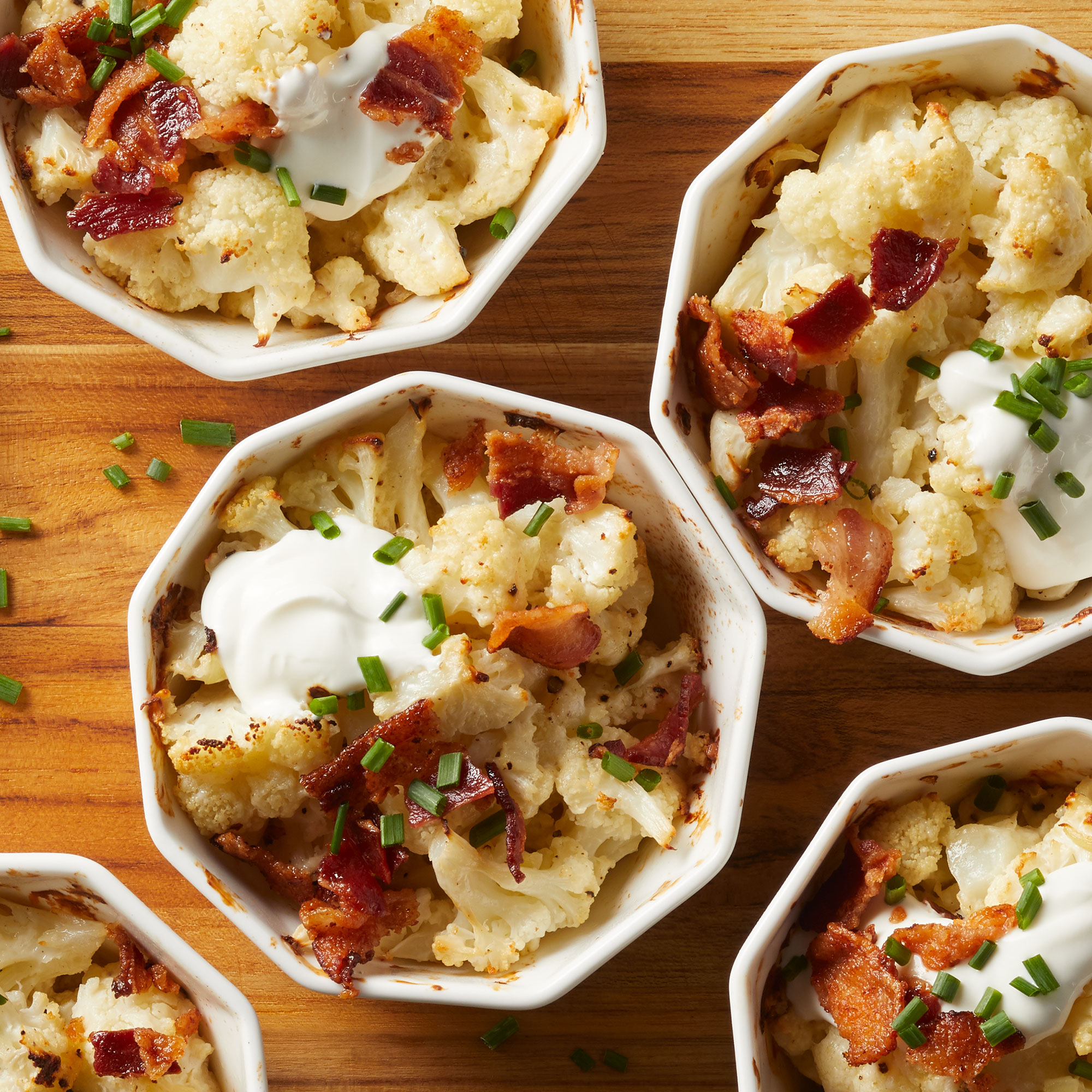 Mini Loaded Cauliflower Casserole