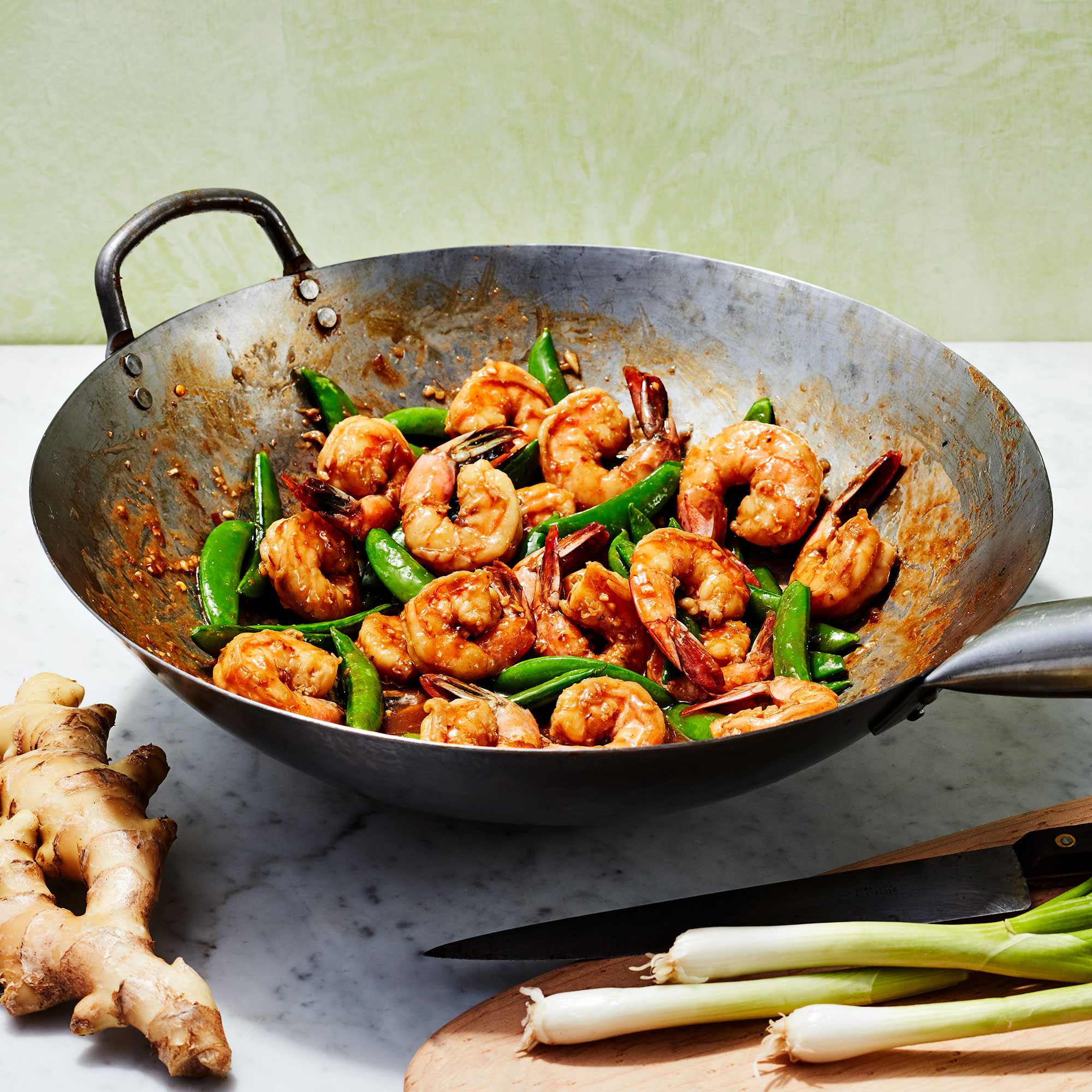Stir-Fried Shrimp & Sugar Snap Peas