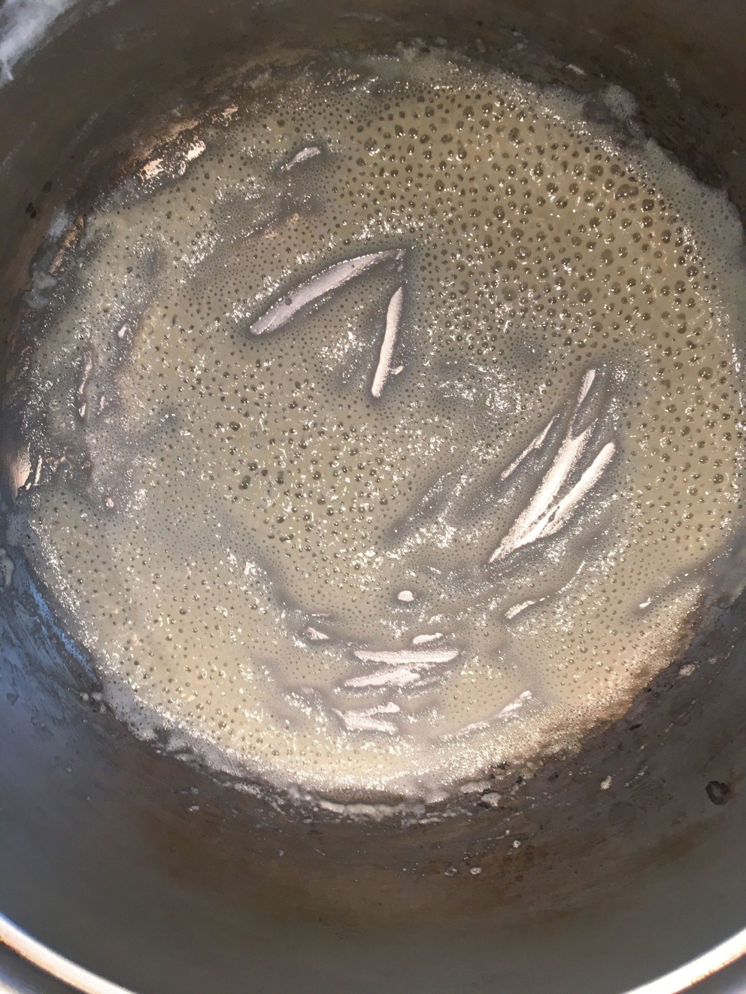 flour and butter in a pan