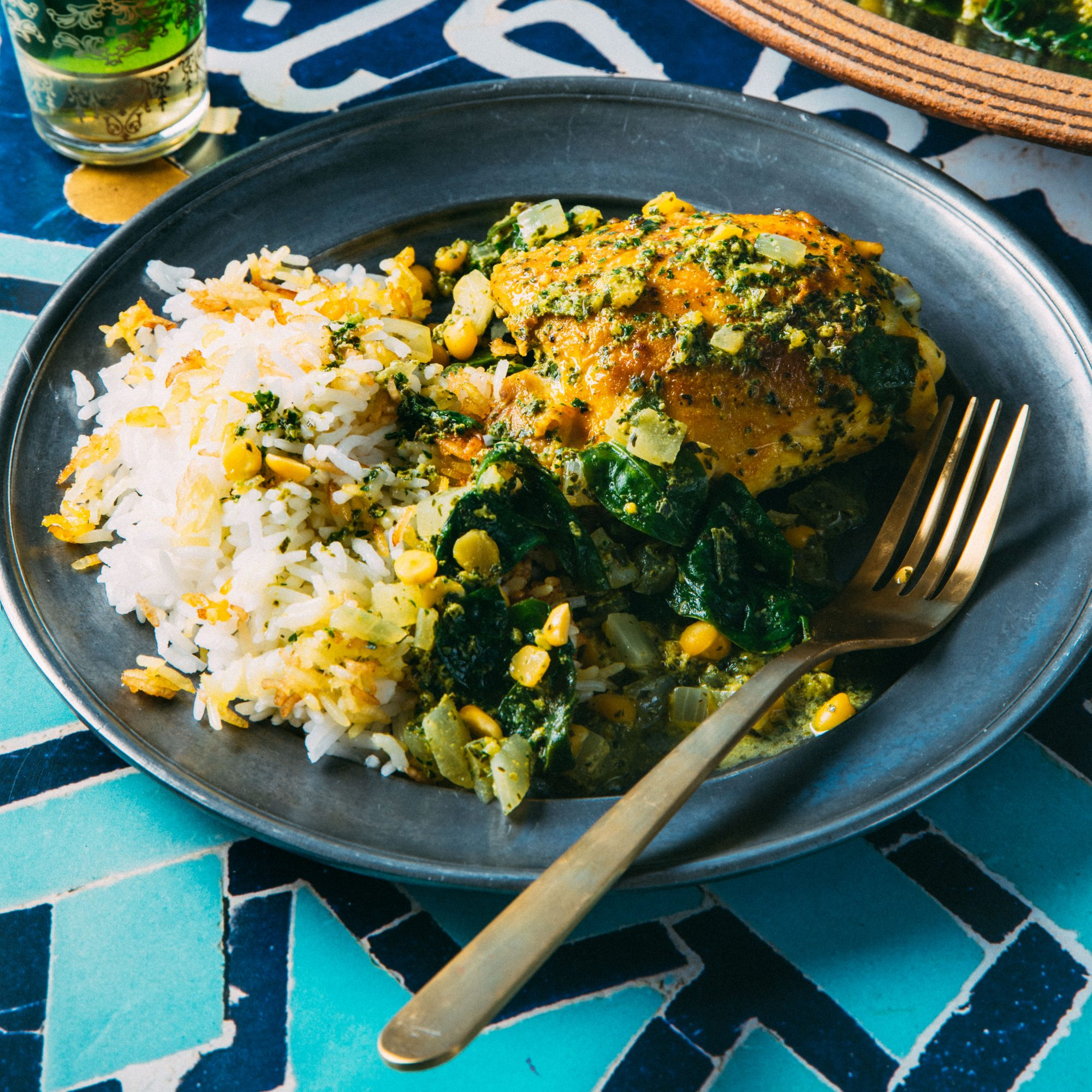 The author learned to make chicken stews such as this morgh-e torsh when she visited Iran.