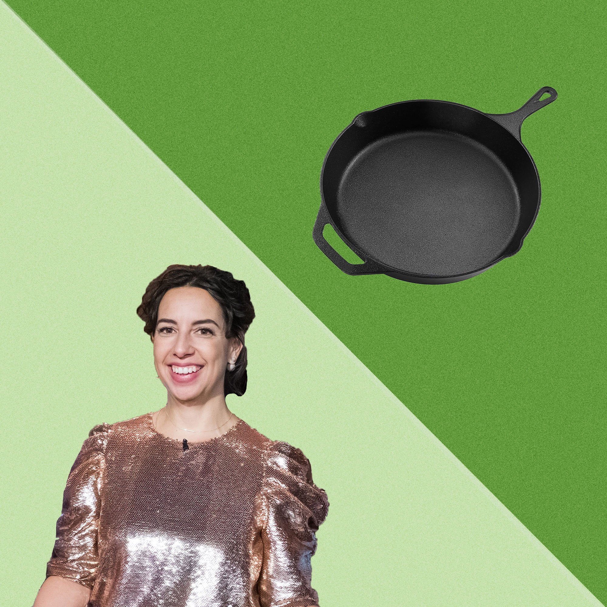 Carla Lalli Music and a cast iron skillet