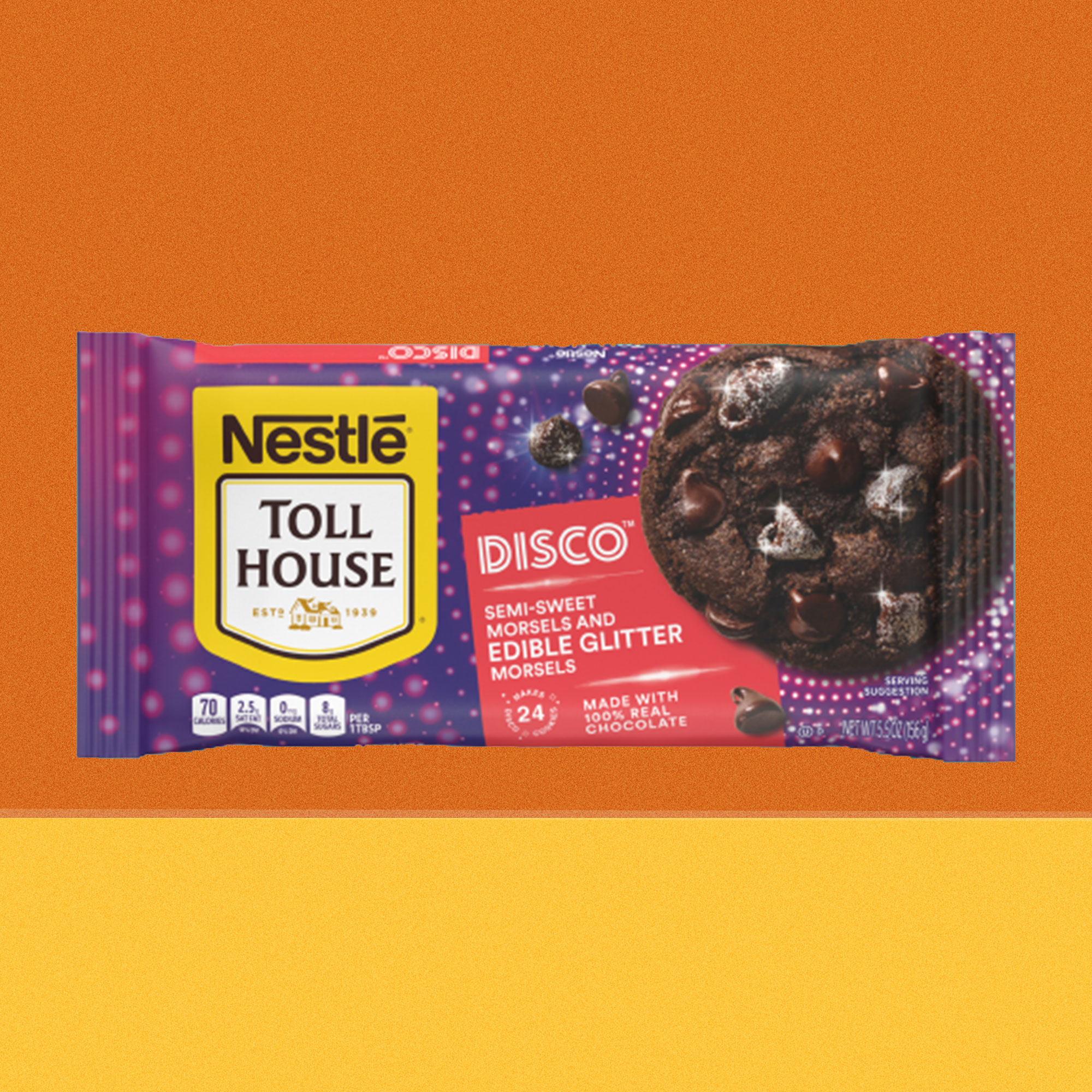nestle toll house disco morsels with edible glitter