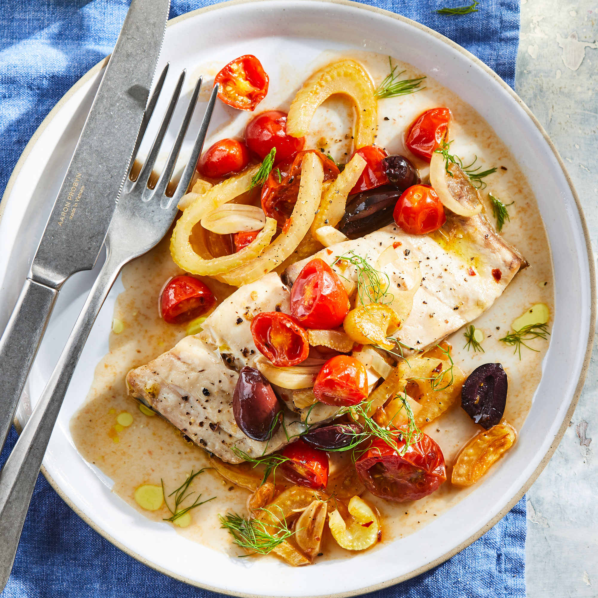 Mahi-Mahi with Spicy Tomato-Fennel Sauce